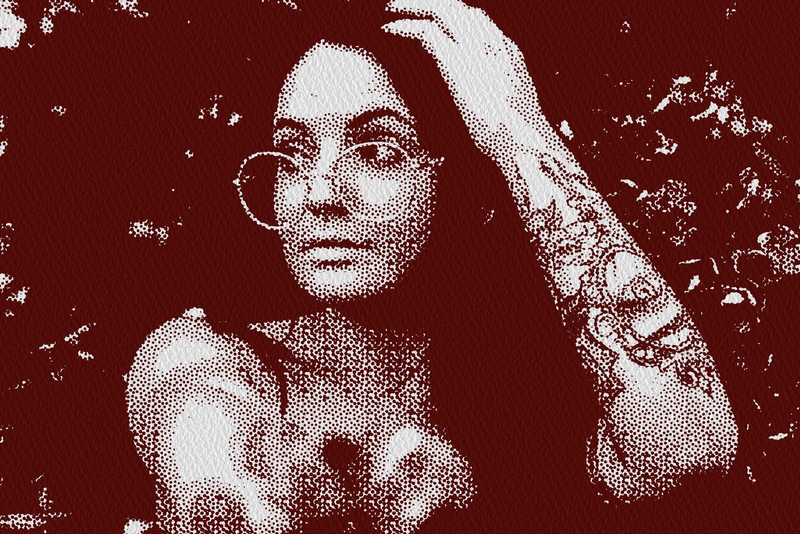 Porträt einer Frau im Retro-Look