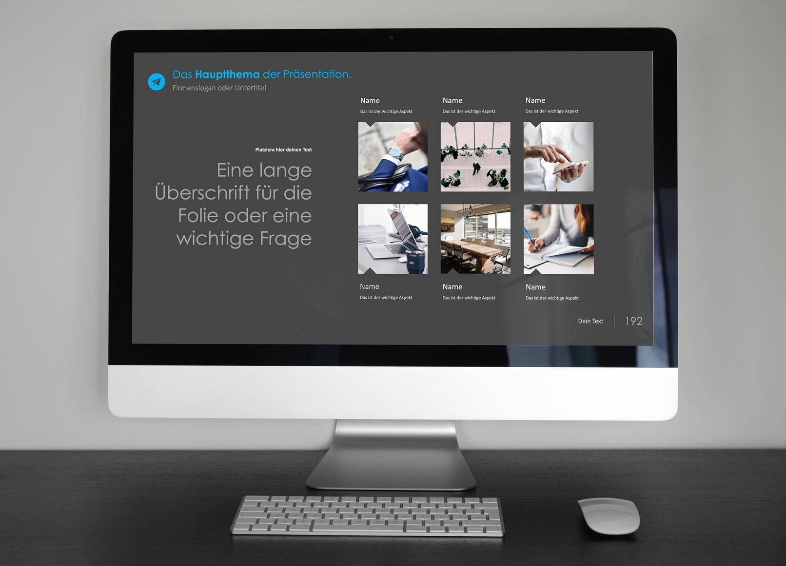 PowerPoint-Vorlagen für Business-Präsentationen: Beispiel-Folie mit sechs Bildern