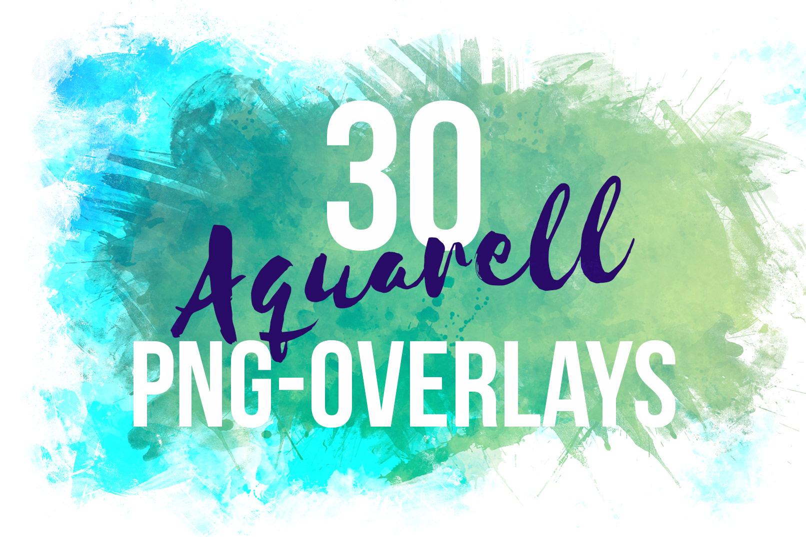 Schriftzug mit Aquarell-Rahmen