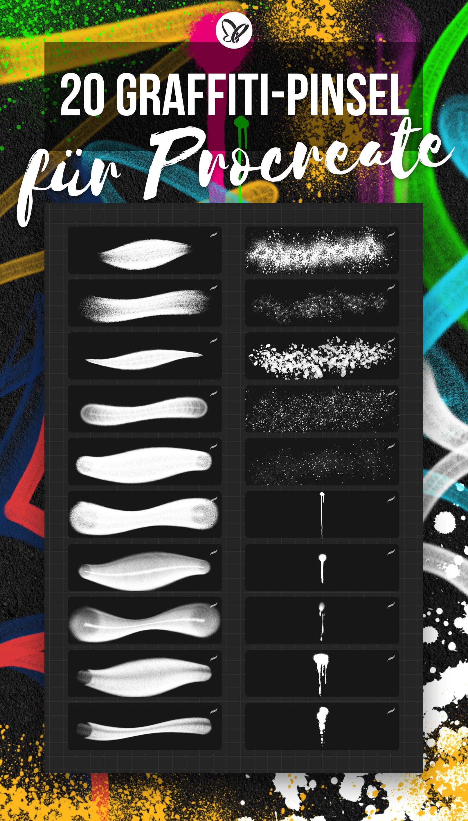 Graffiti-Brushes für Procreate