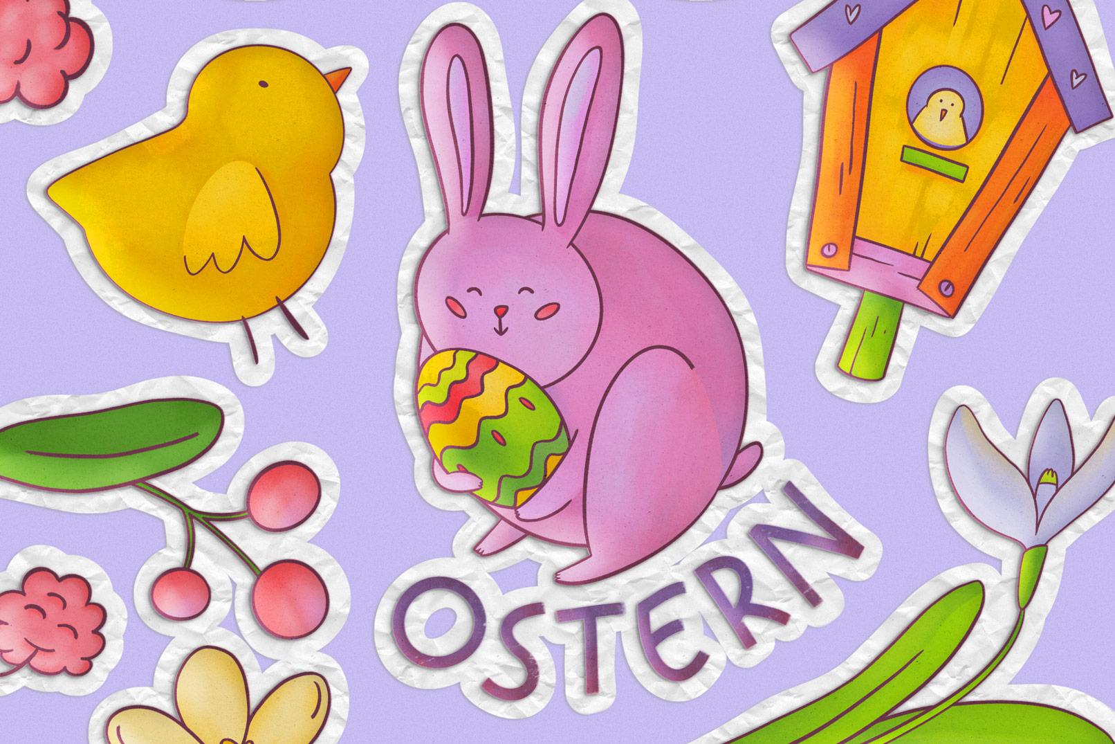 Grafiken für Ostern mit transparentem Hintergrund