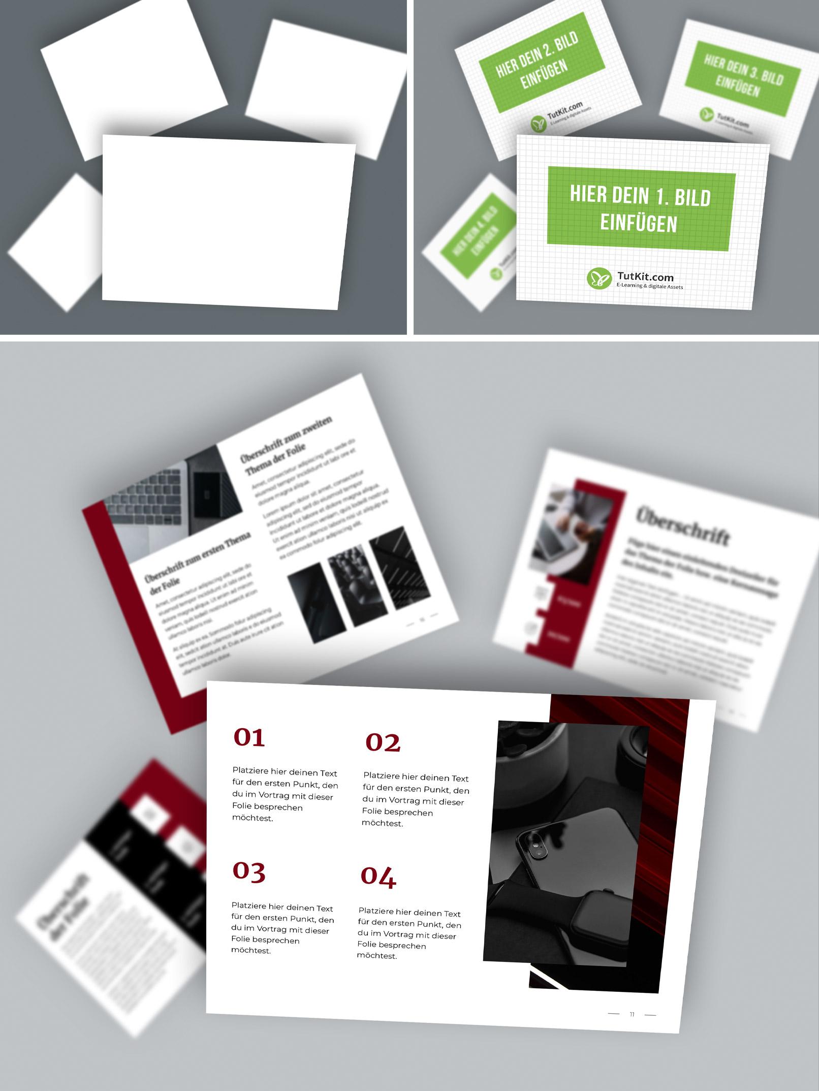Photoshop-Mockups für Präsentationsfolien im 4:3-Format: Workflow zum Einfügen