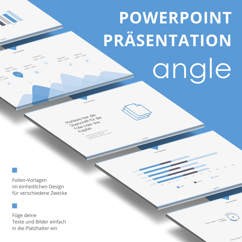 PowerPoint Folien-Vorlagen Angle, Vorschau auf mehrere Layouts