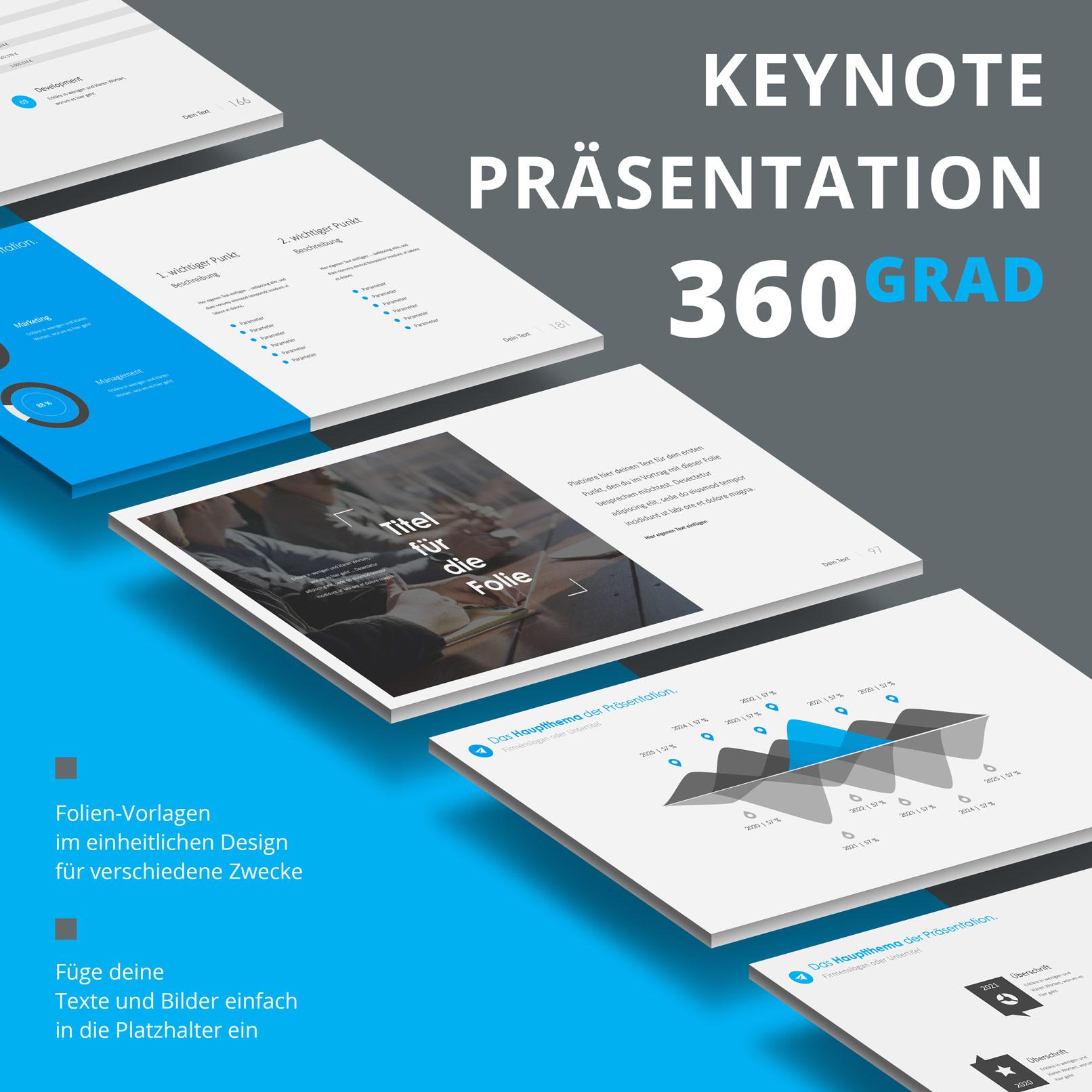 Vorlage für Keynote-Präsentationen: Zusammenfassung der Features