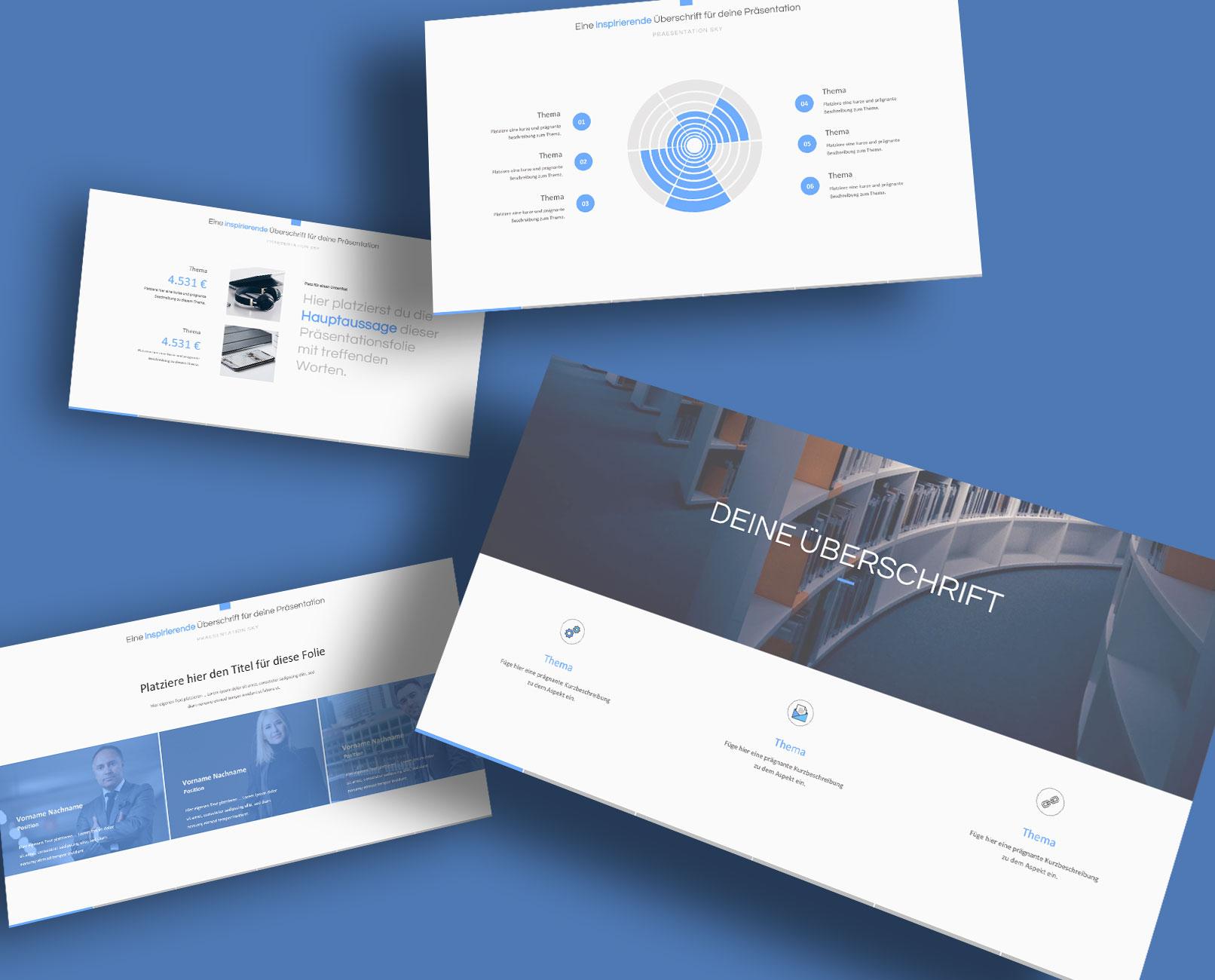 PowerPoint Design-Vorlage Sky, Beispielfolien