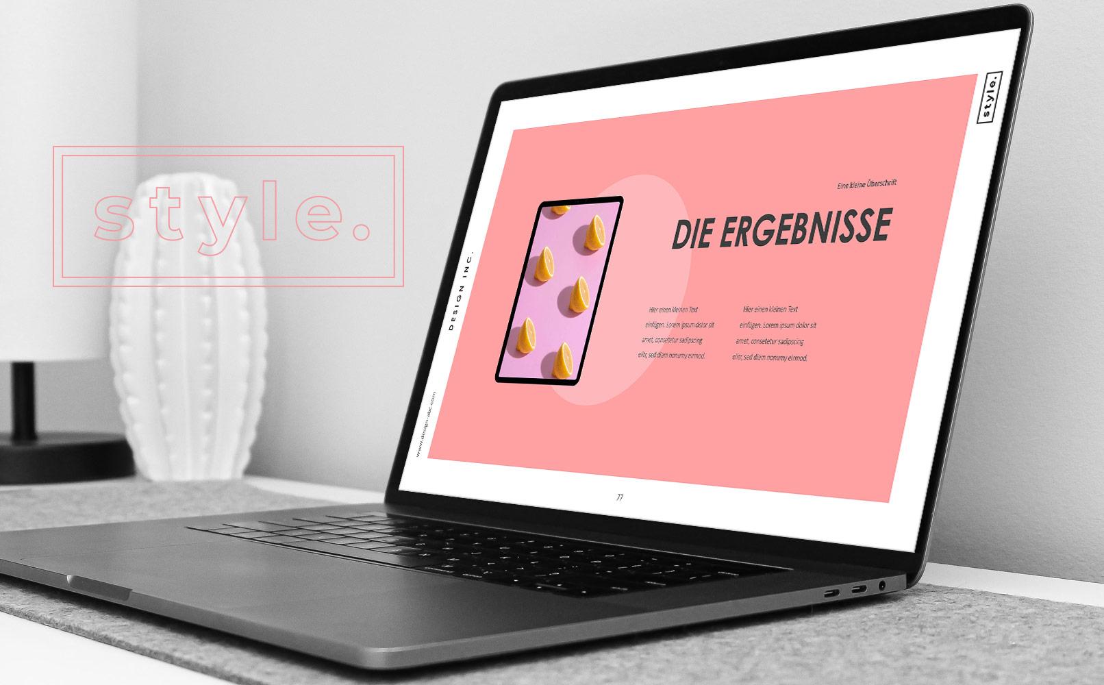PowerPoint Folien-Vorlagen Angle, Folie mit einem Text- und einem Diagramm-Bereich