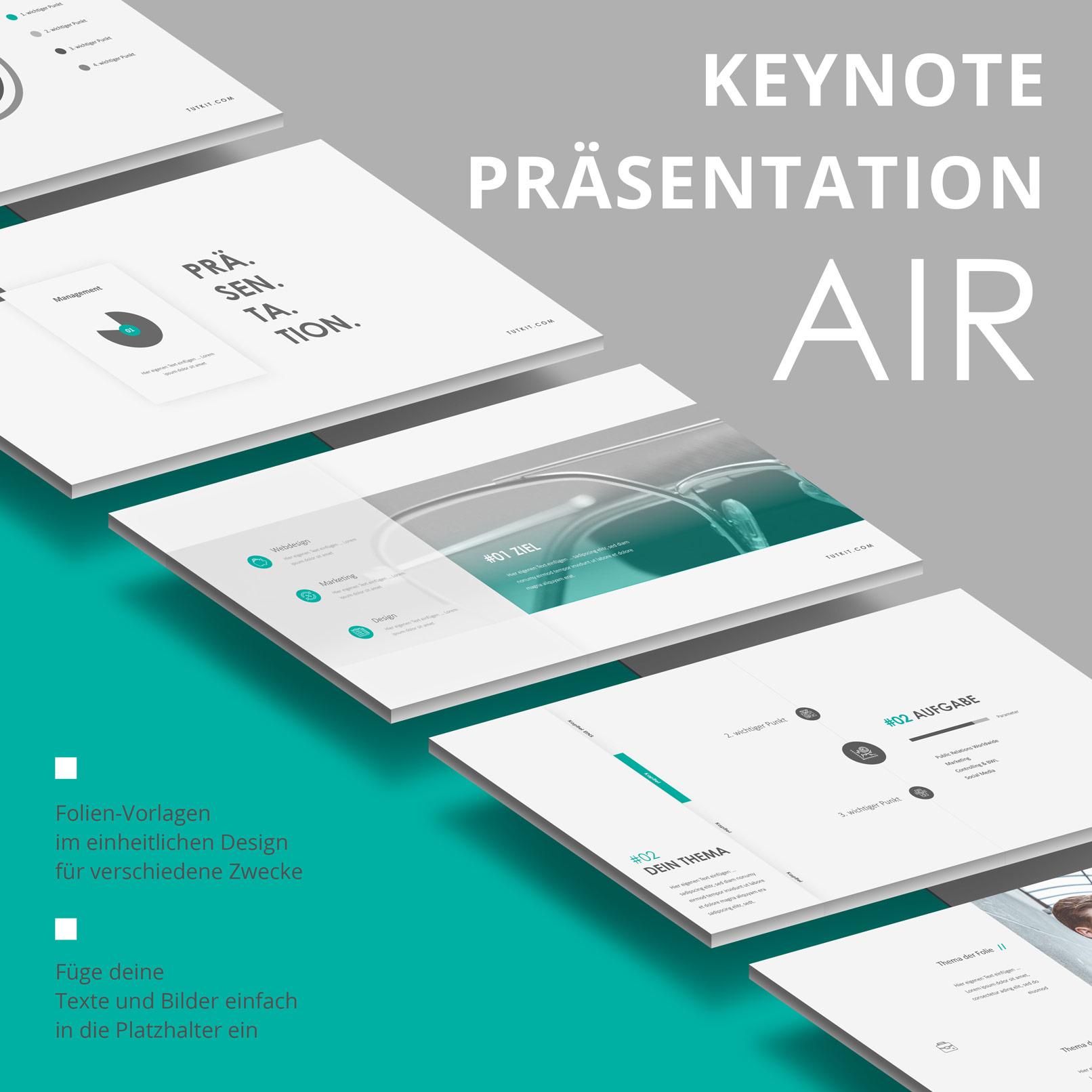 Layout-Vorlagen für Keynote: Beispielfolien