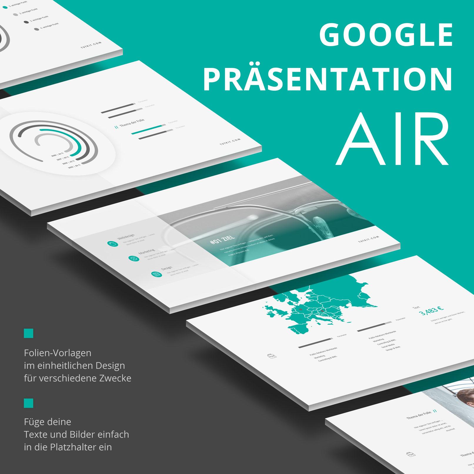 Vorlagen für Google Präsentationen im Air-Design: Zusammenfassung der Features