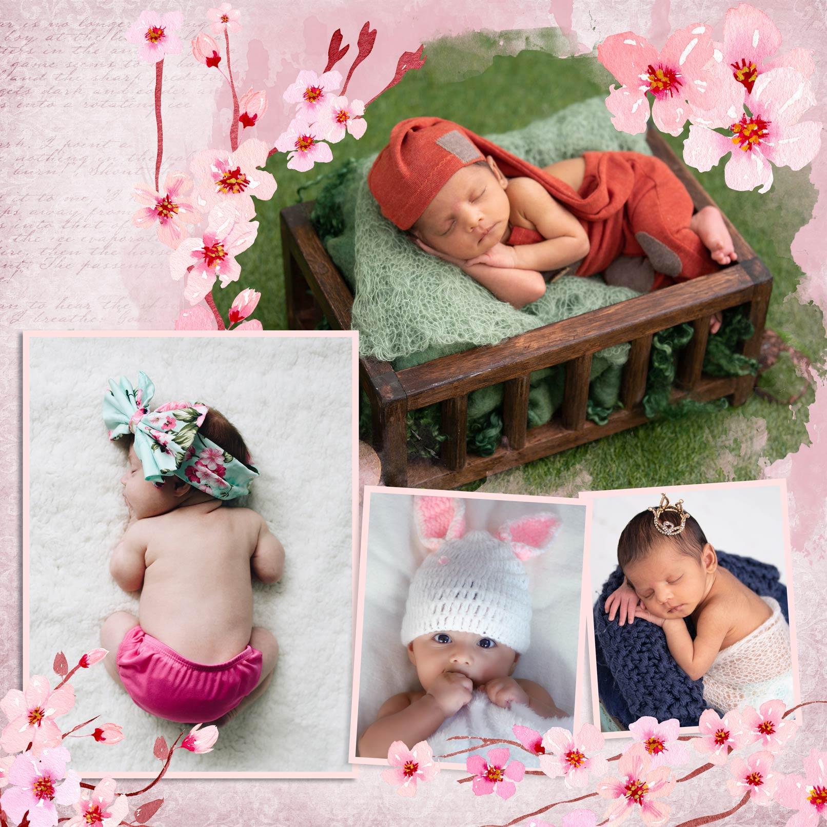Charming Flowers: Bilderrahmen mit Blumen für Fotocollagen in Photoshop und Co.