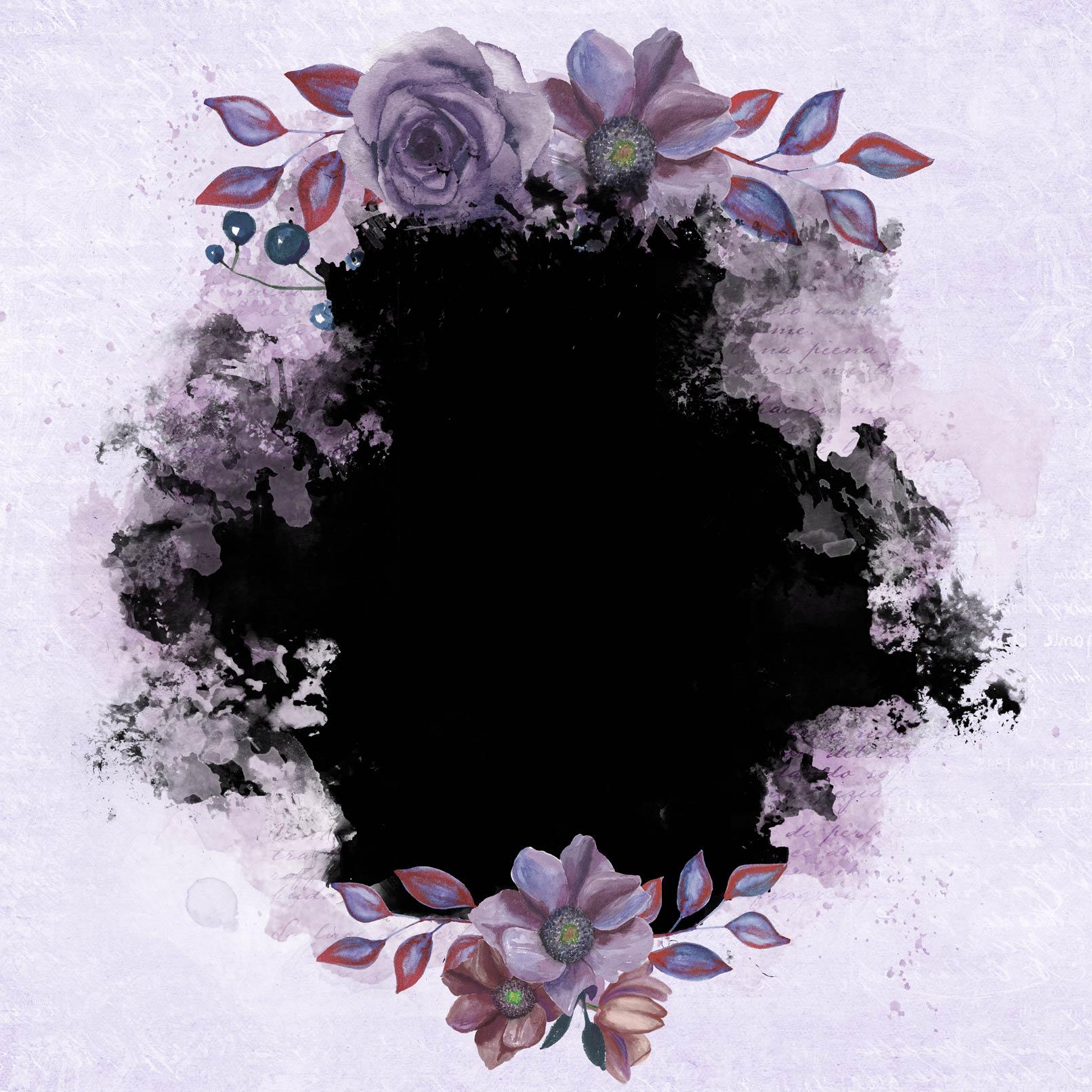 Lovely Blooms: Aquarell-Rahmen mit zarten Blüten für deine Lieblingsfotos