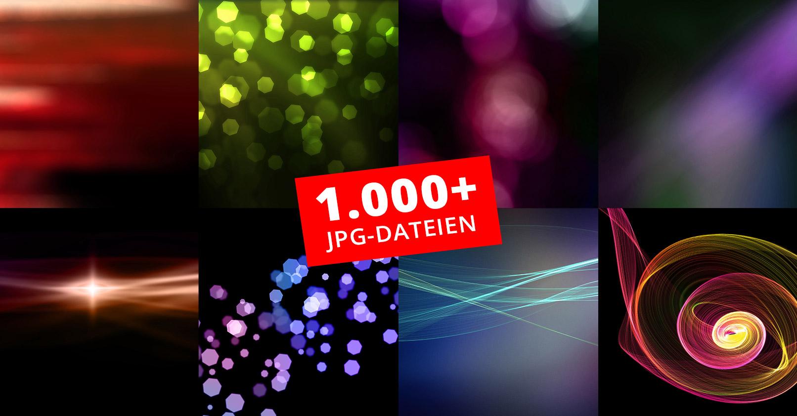 Beispielbilder der 1.000 Bokehs, Lens Flares und Light Leaks