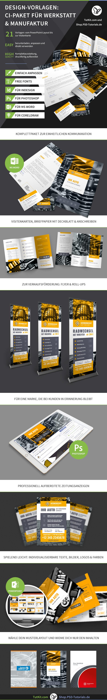 Überblick über die Corporate-Design-Vorlagen für Werkstätten
