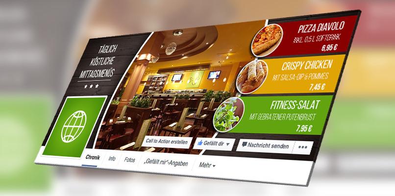 Facebook-Titelbild-Vorlage: Beispiel für Bar und Restaurant