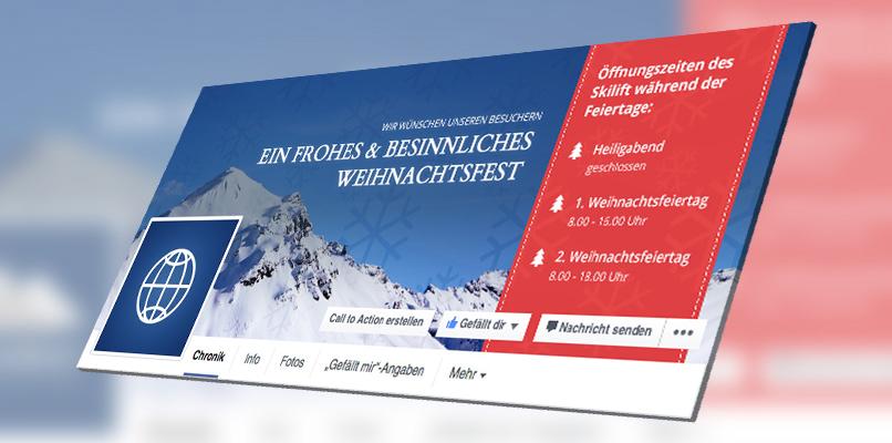 Facebook-Titelbild-Vorlage: Beispiel für Reise und Veranstalter