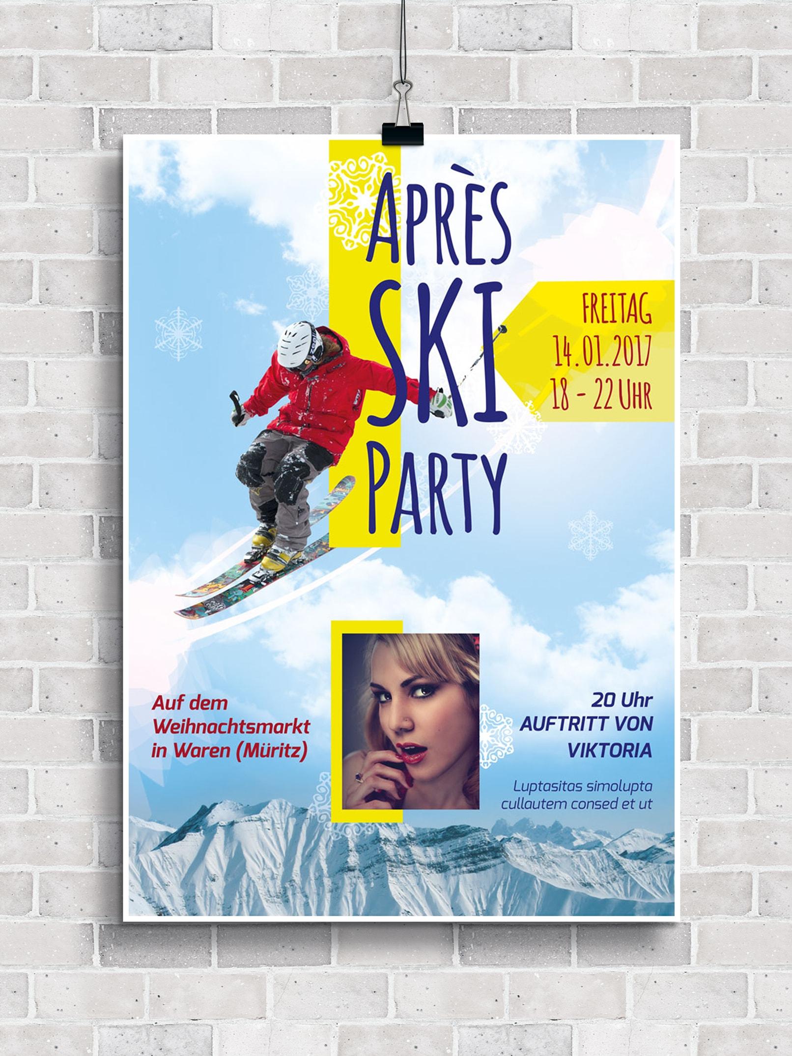Poster, Flyer und Plakate fuer Huettengaudi und Apres Ski