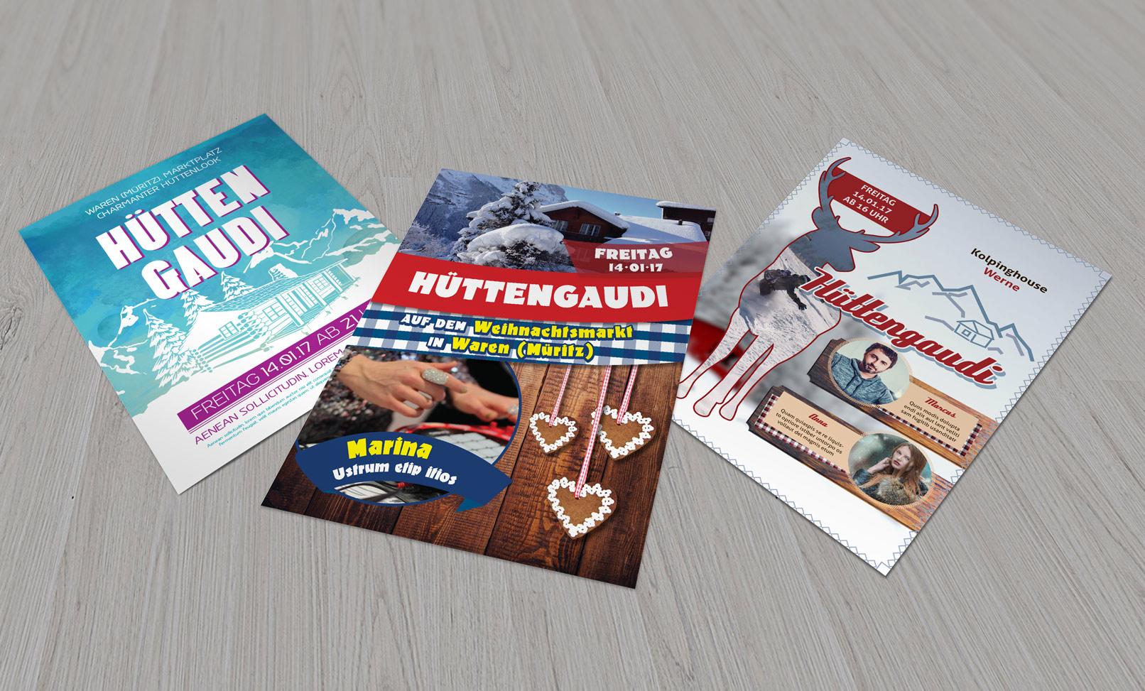 Designer im Vorweihnachtsglück: Illustrationen, Flyer & Texturen