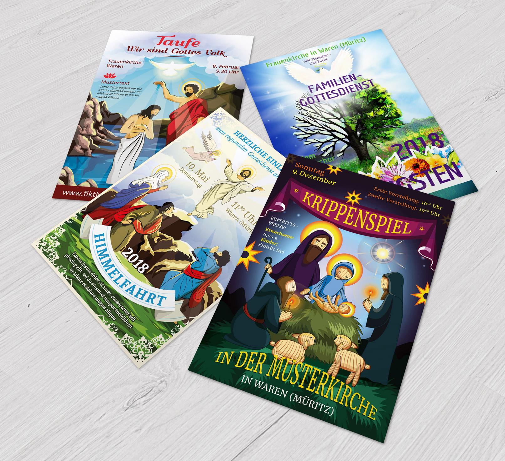Flyer-Vorlagen für christliche Veranstaltungen, Kirche