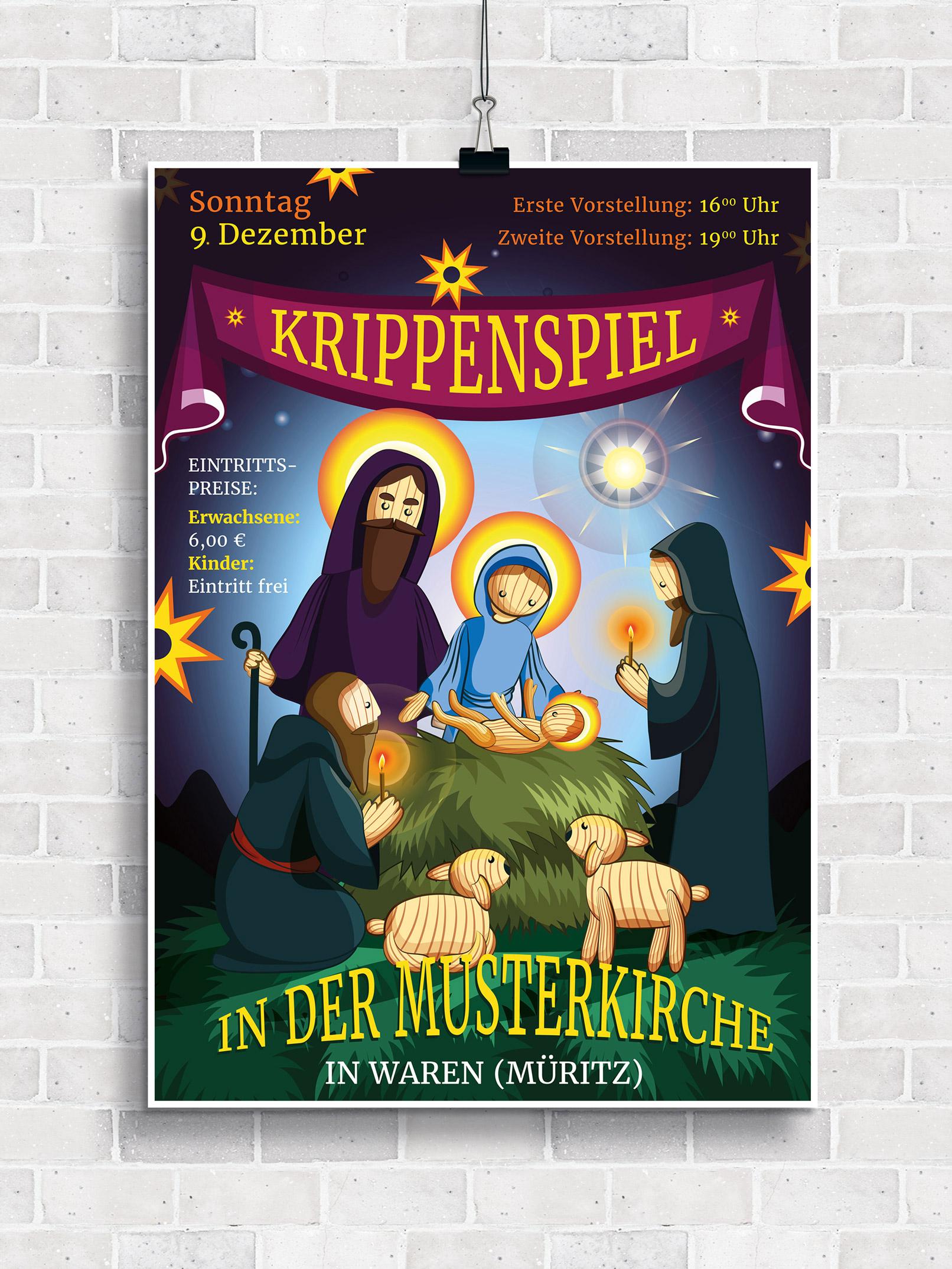 Flyer-Vorlagen für christliche Veranstaltungen