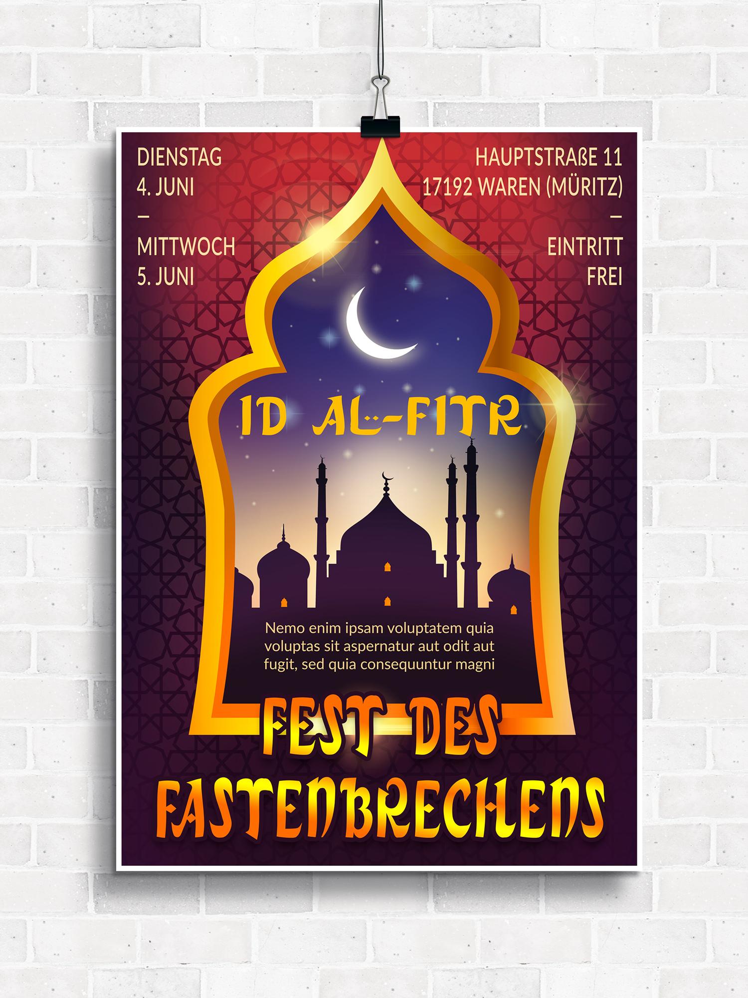 Vorlagen mit Islam-Bildern für Plakate