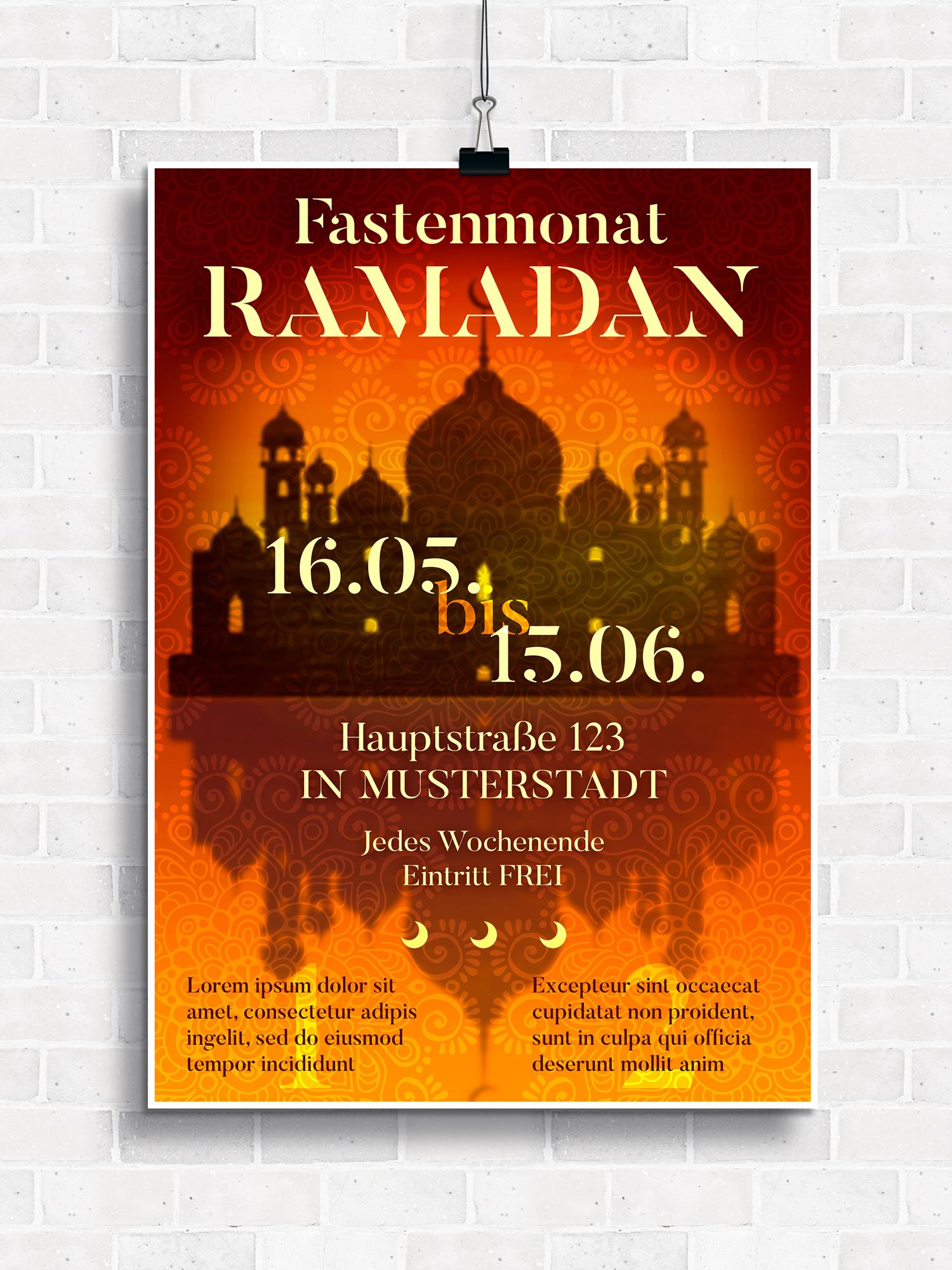 Plakat für Ramadan
