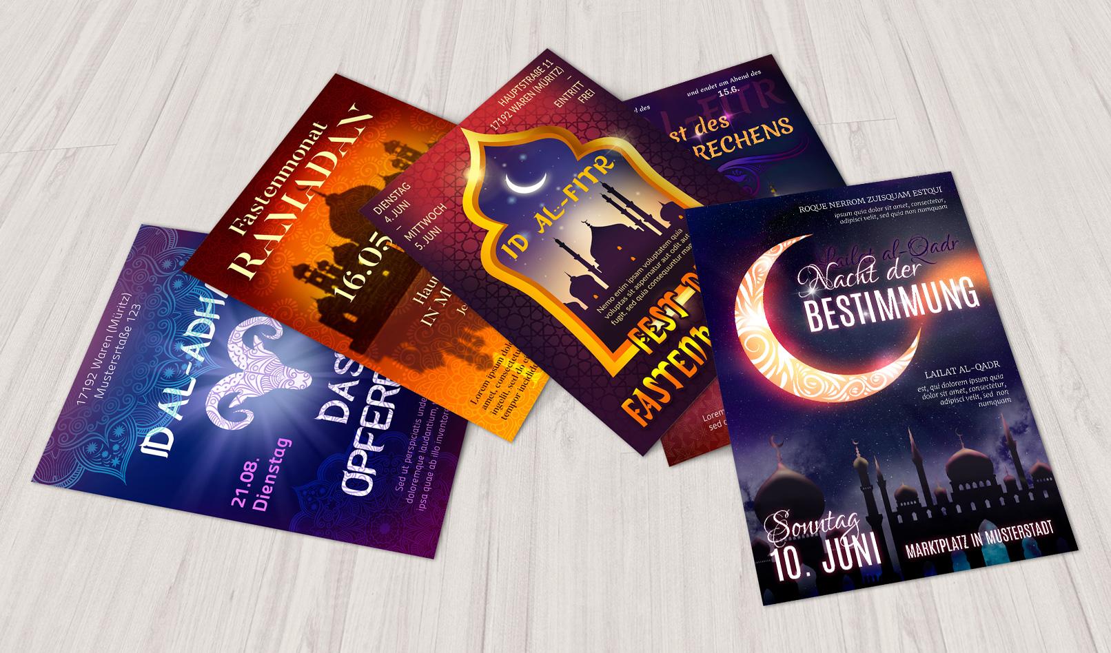 Islam-Poster für islamische Veranstaltungen – Vorlage