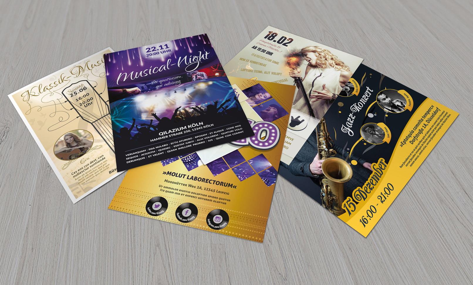 Flyer-Vorlagen für Musical und Konzerte