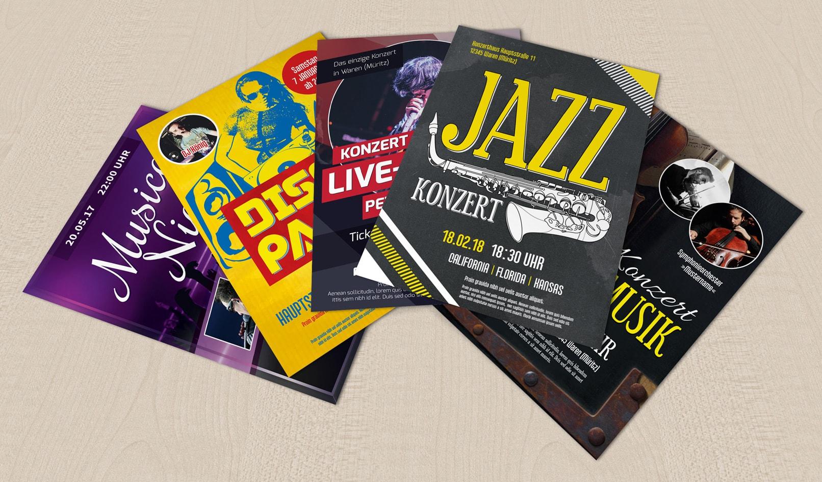Flyer-Vorlagen für Musicals, Discos und Konzerte zum Download