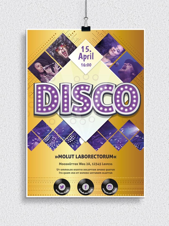 Poster, Flyer und Plakate fuer Disco, Musical, Konzerte