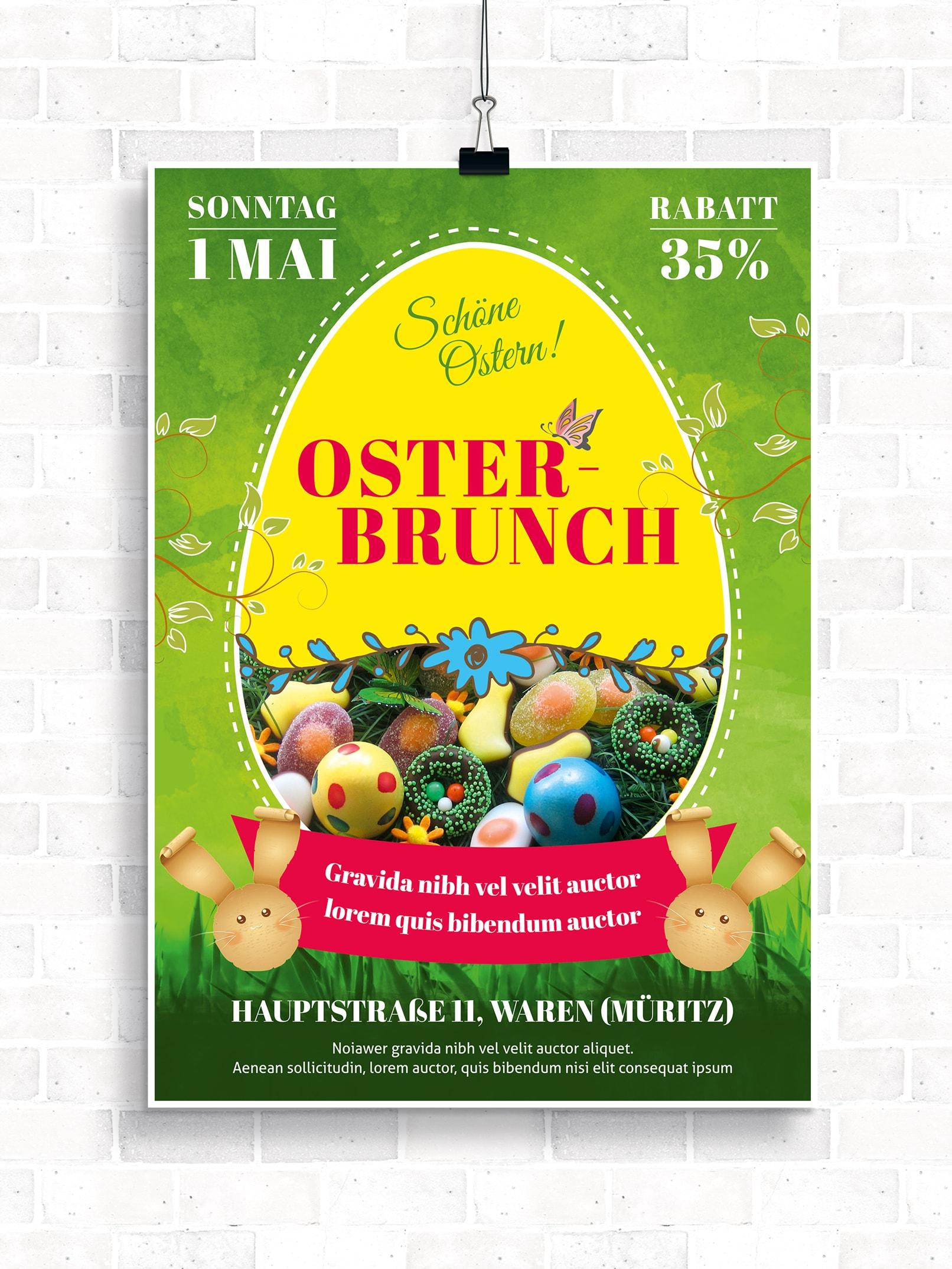 Poster, Flyer und Plakate fuer Ostern