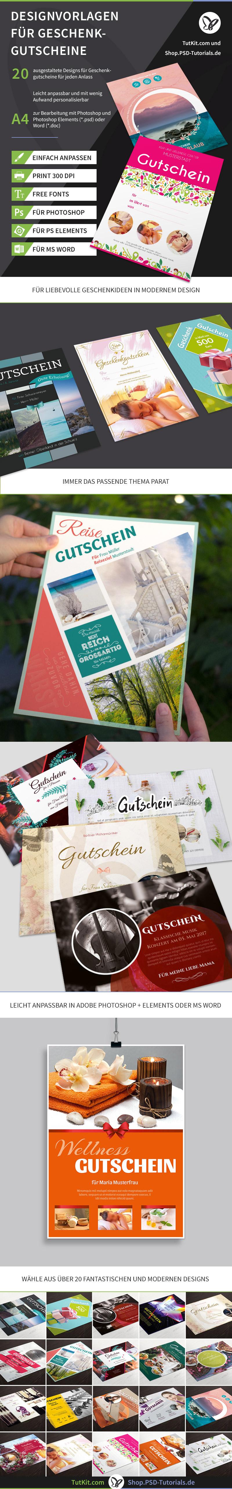 Vorlagen für Geschenk-Gutscheine