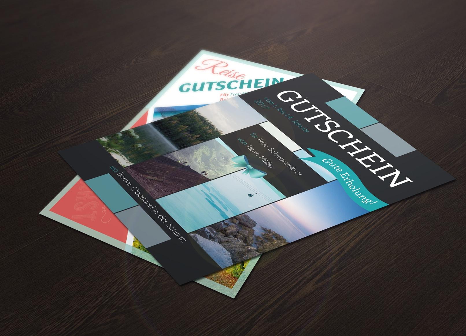 Vorlagen Geschenk Gutschein Für Word Und Photoshop