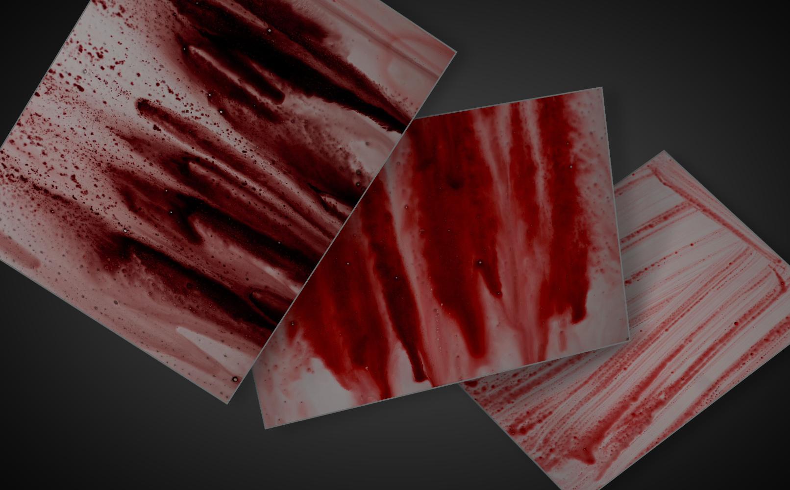 Blut-Bilder mit Blutspritzern und blutigen Schlieren – Blut-Fotos für Compositings.