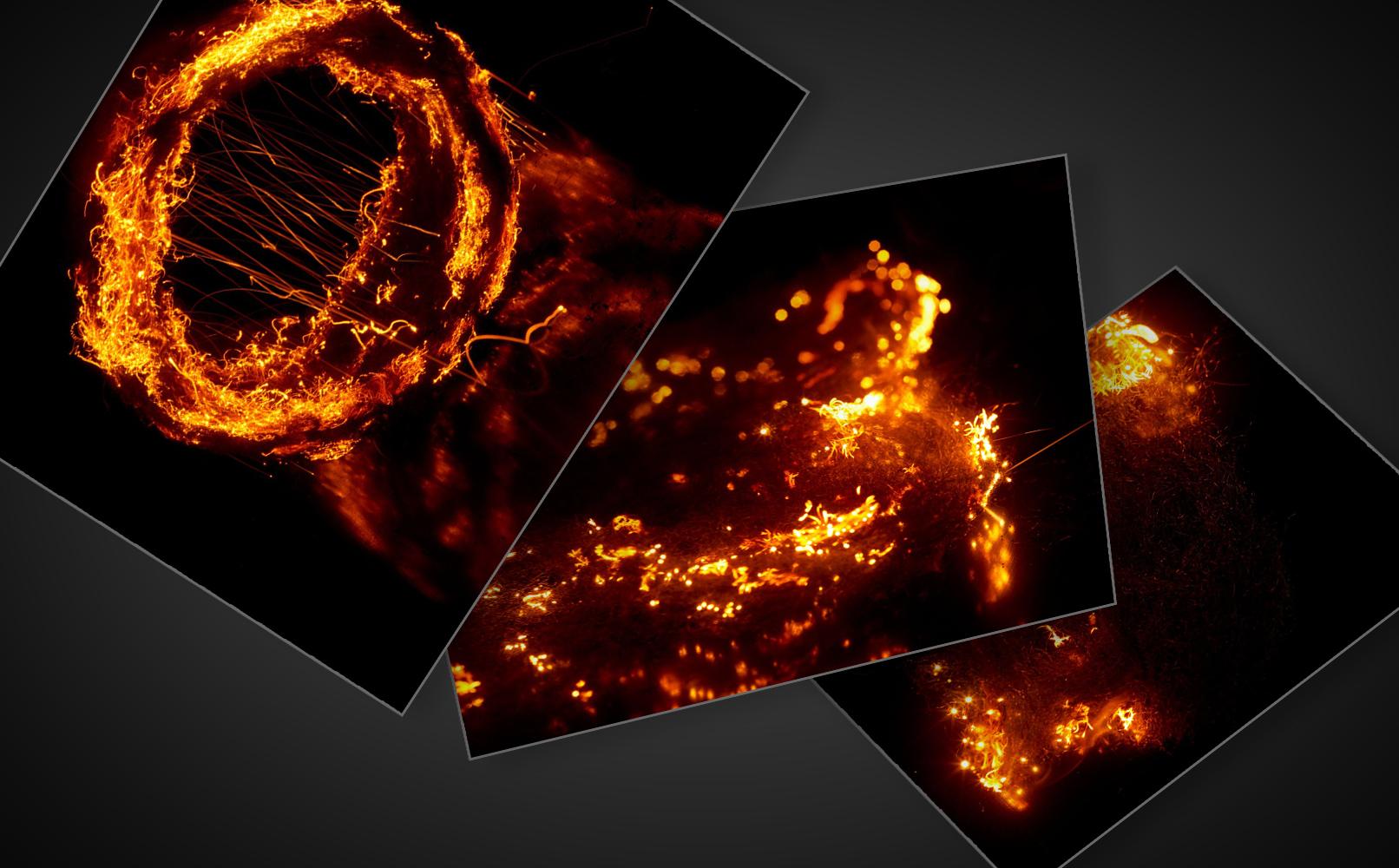 Feuer-Bilder und Flammen-Bilder für Compositings und zur Bildbearbeitung.