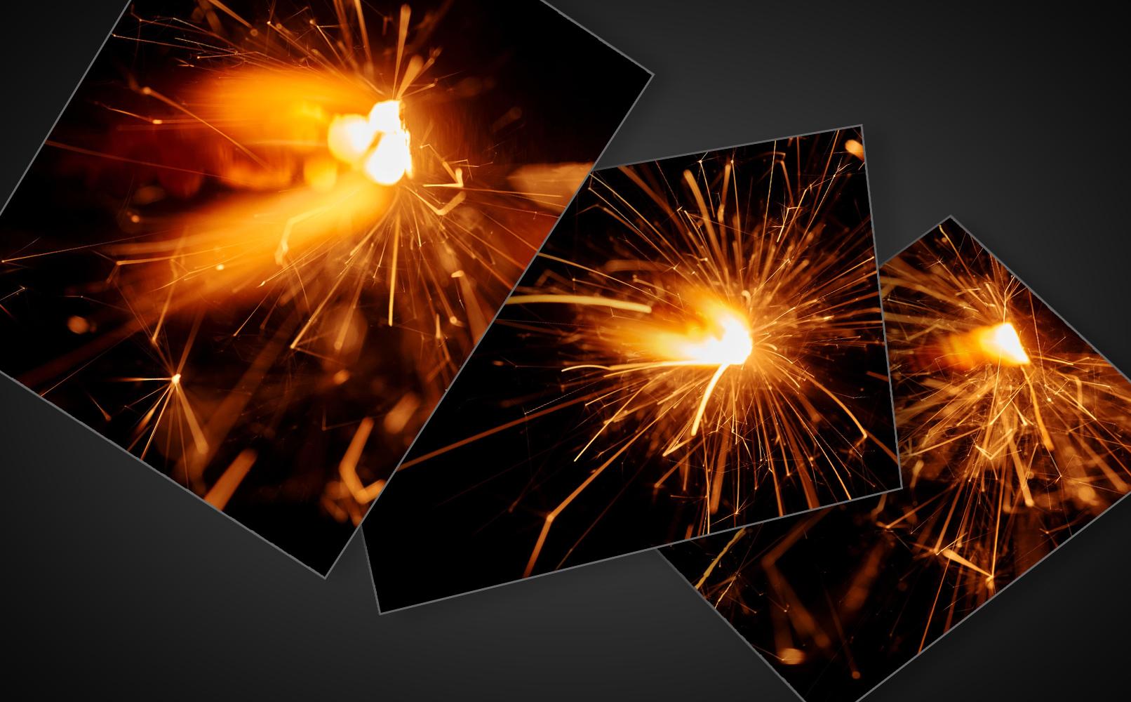 Bilder mit Sparkles, Lichteffekt und Funken zur Bildbearbeitung von Compositings.