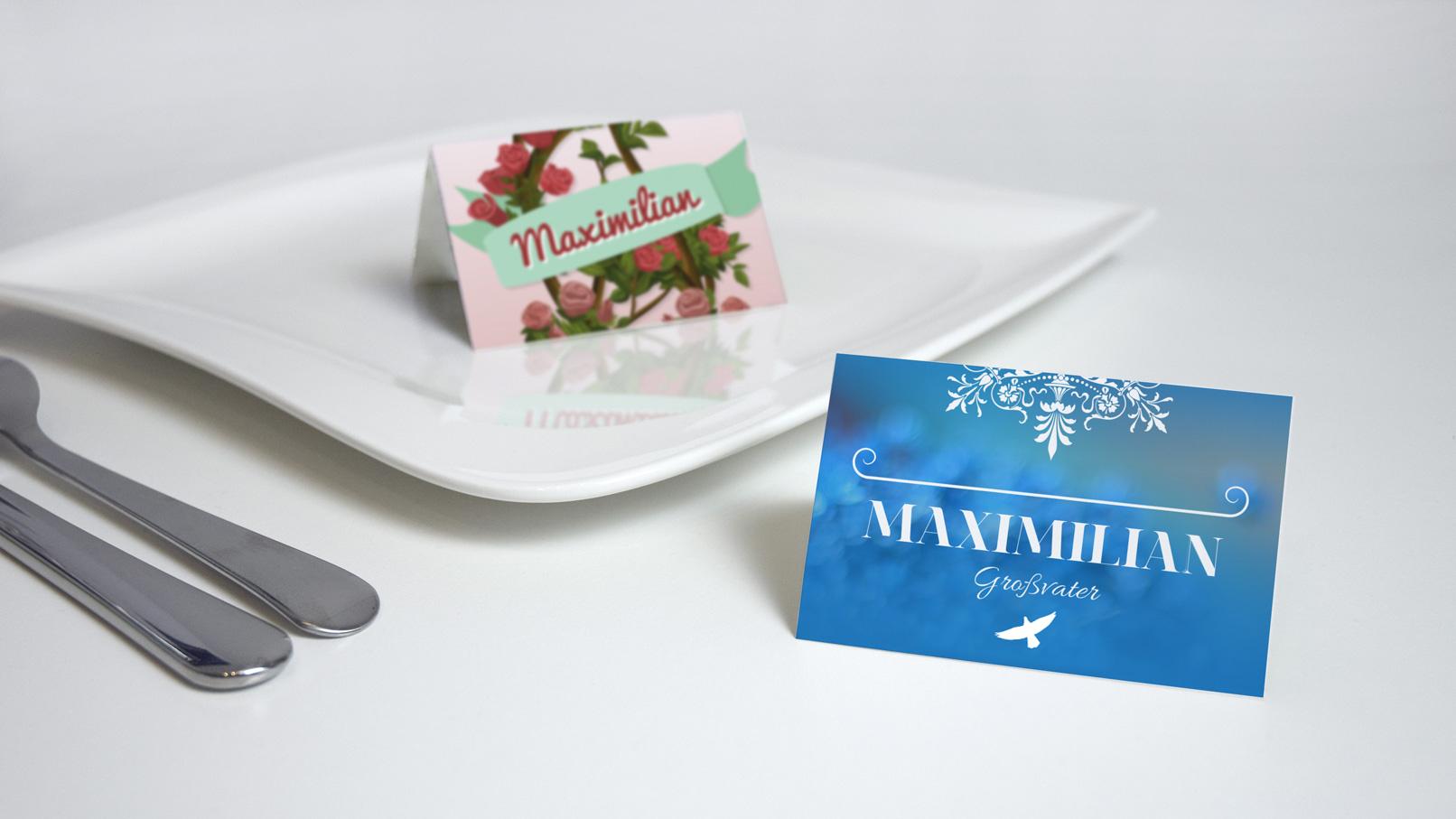 Vorlagenset: Die perfekte Hochzeits-Tischkarte