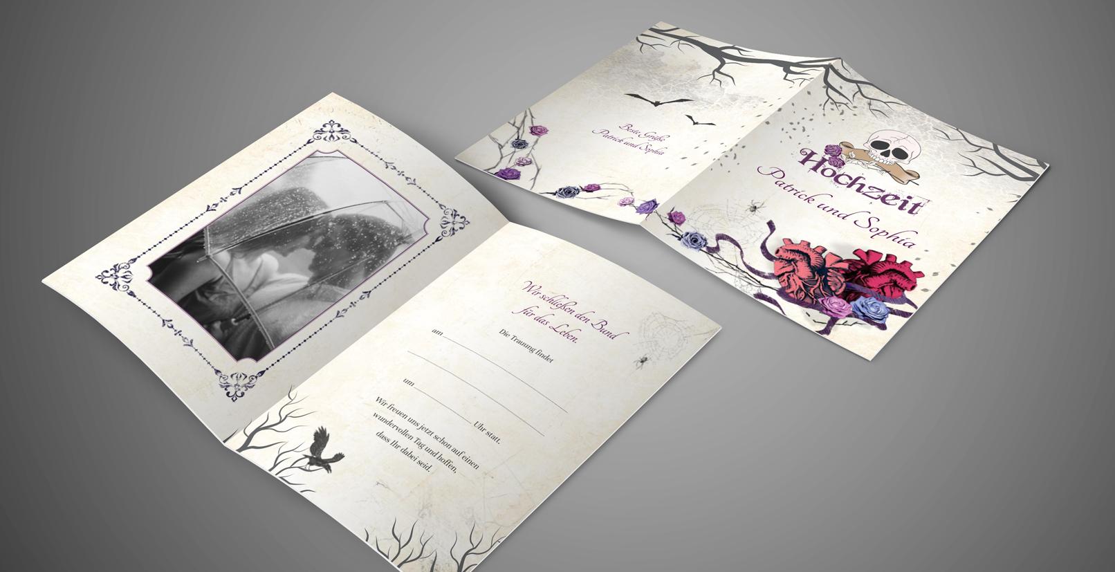 Vorlage für Hochzeitseinladungen