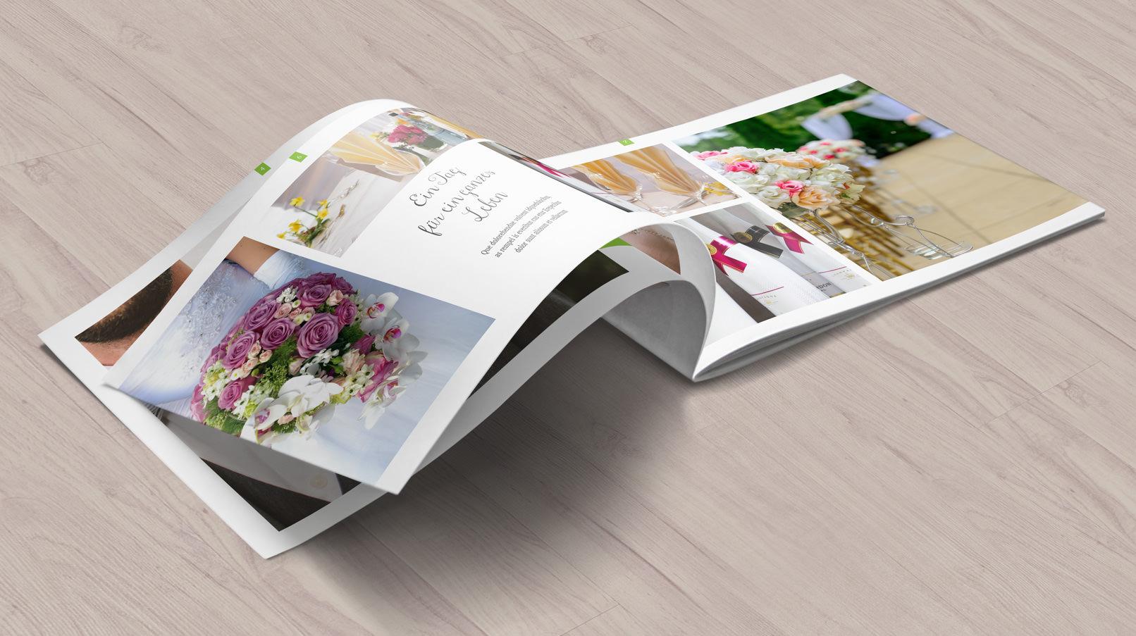 Vorlage für Fotoalbum zur Hochzeit