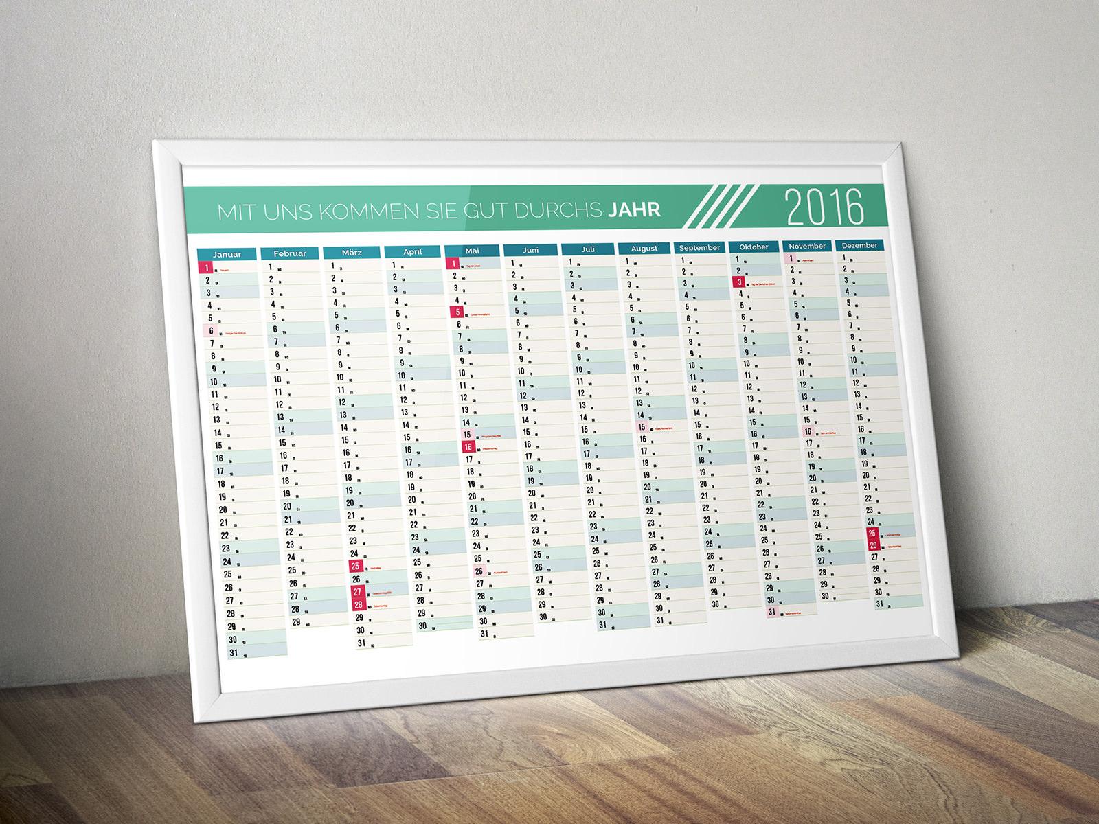 Kalendervorlage Jahresplaner