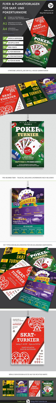 Überblick über die Plakat- und Flyer-Vorlagen zum Thema Karten-, Skat- und Pokerturniere