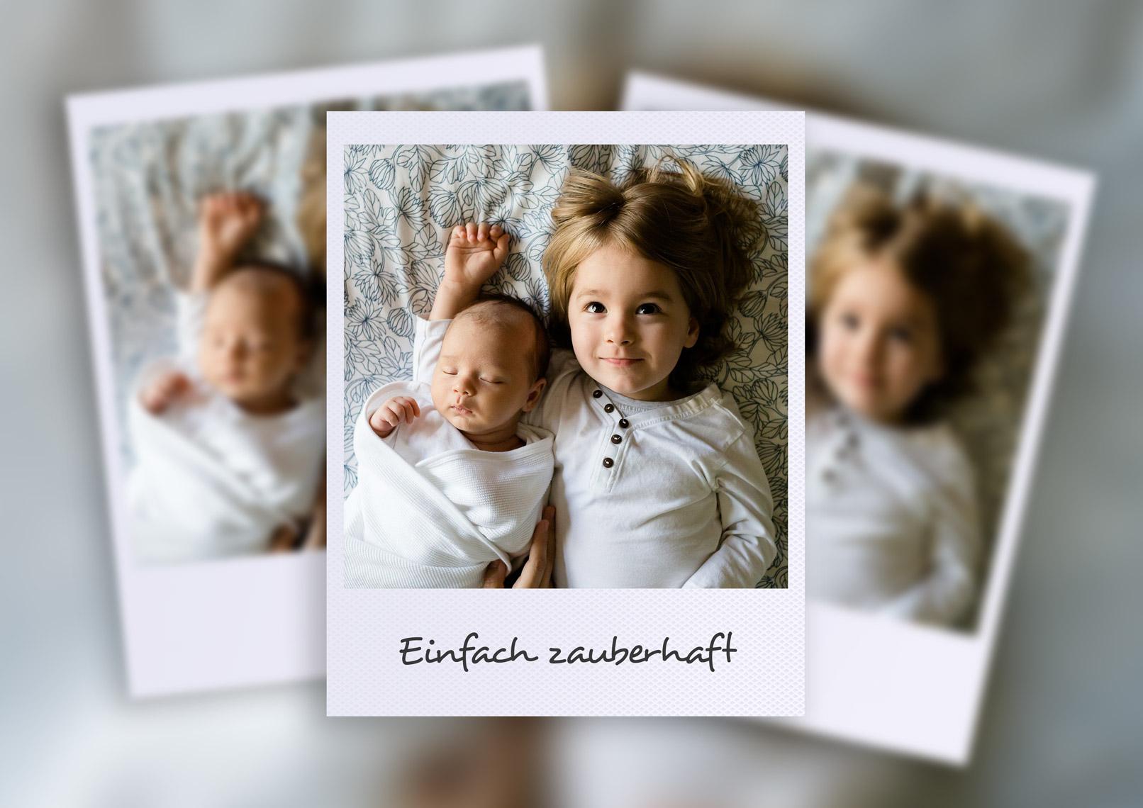 Photoshop-Aktion, um eigene Fotos in hochwertige Bilderrahmen einzufügen.