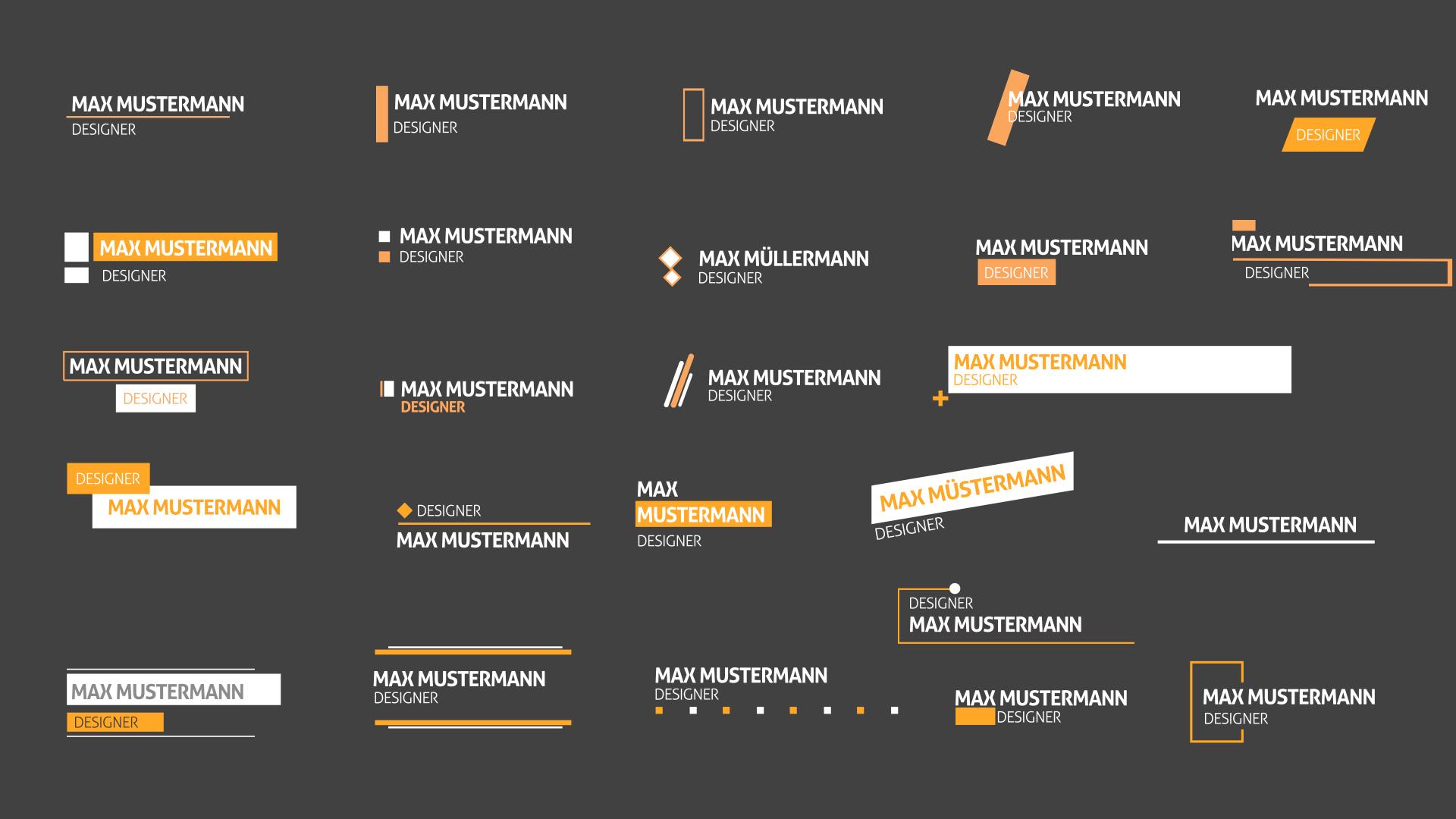 Abbildung von 25 Text-Animationen für Bauchbinden in After Effects und Premiere Pro