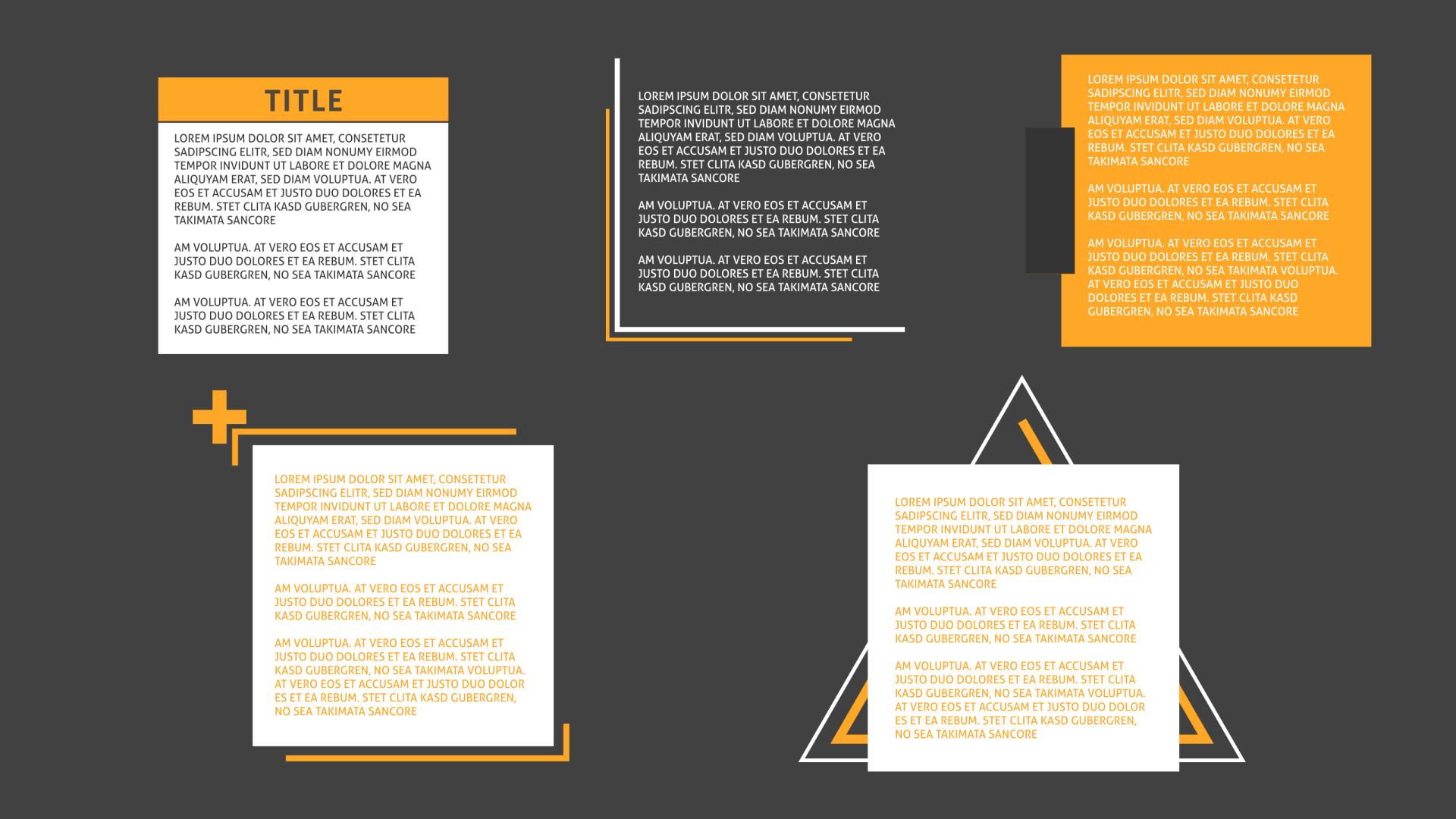 Abbildung von 5 Text-Animationen für Text-Einblendungen, anwendbar in After Effects und Premiere Pro