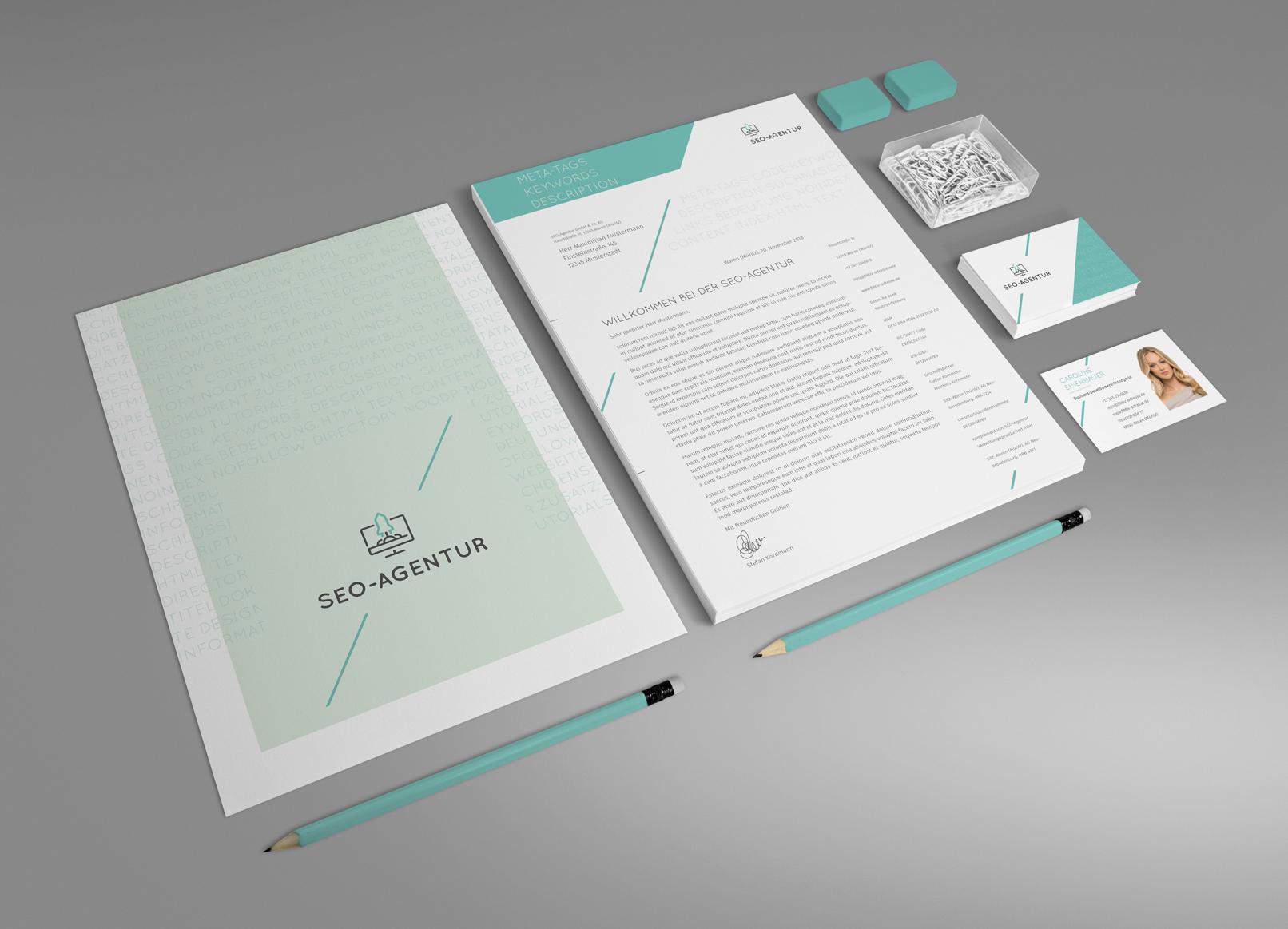 Mockup für verschiedene Printmedien