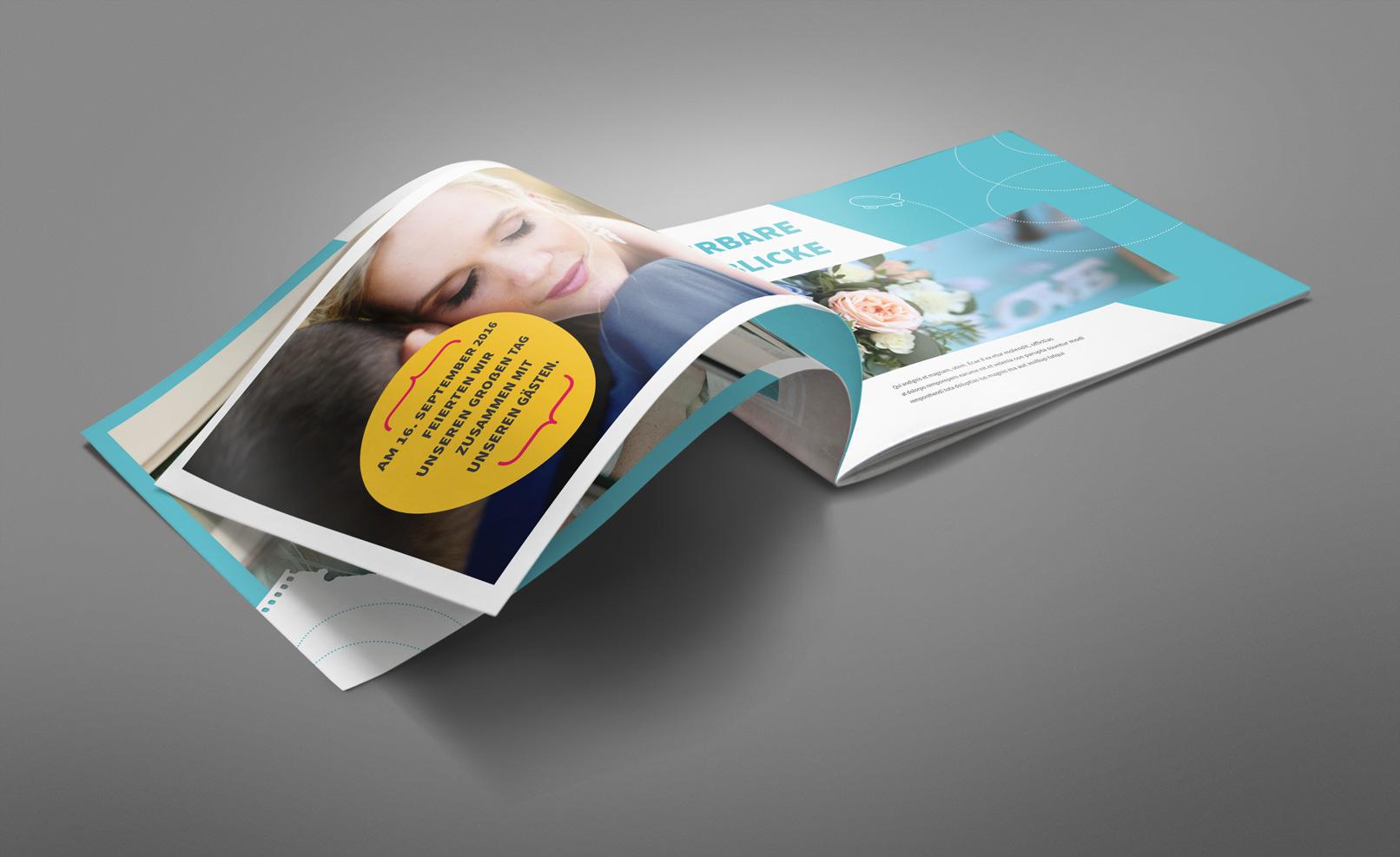 Mockup für eine Broschüre