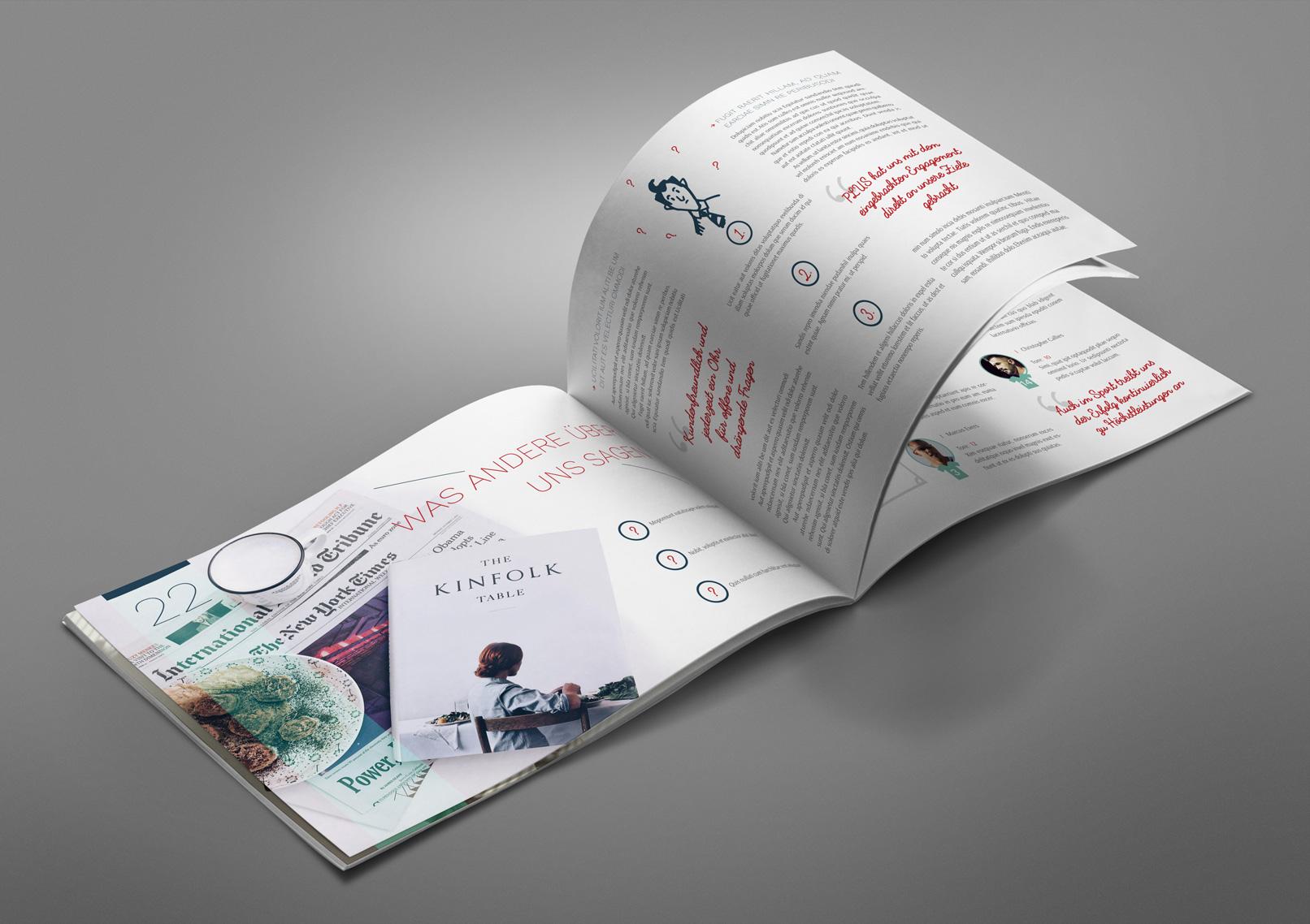 Mockup für ein Magazin