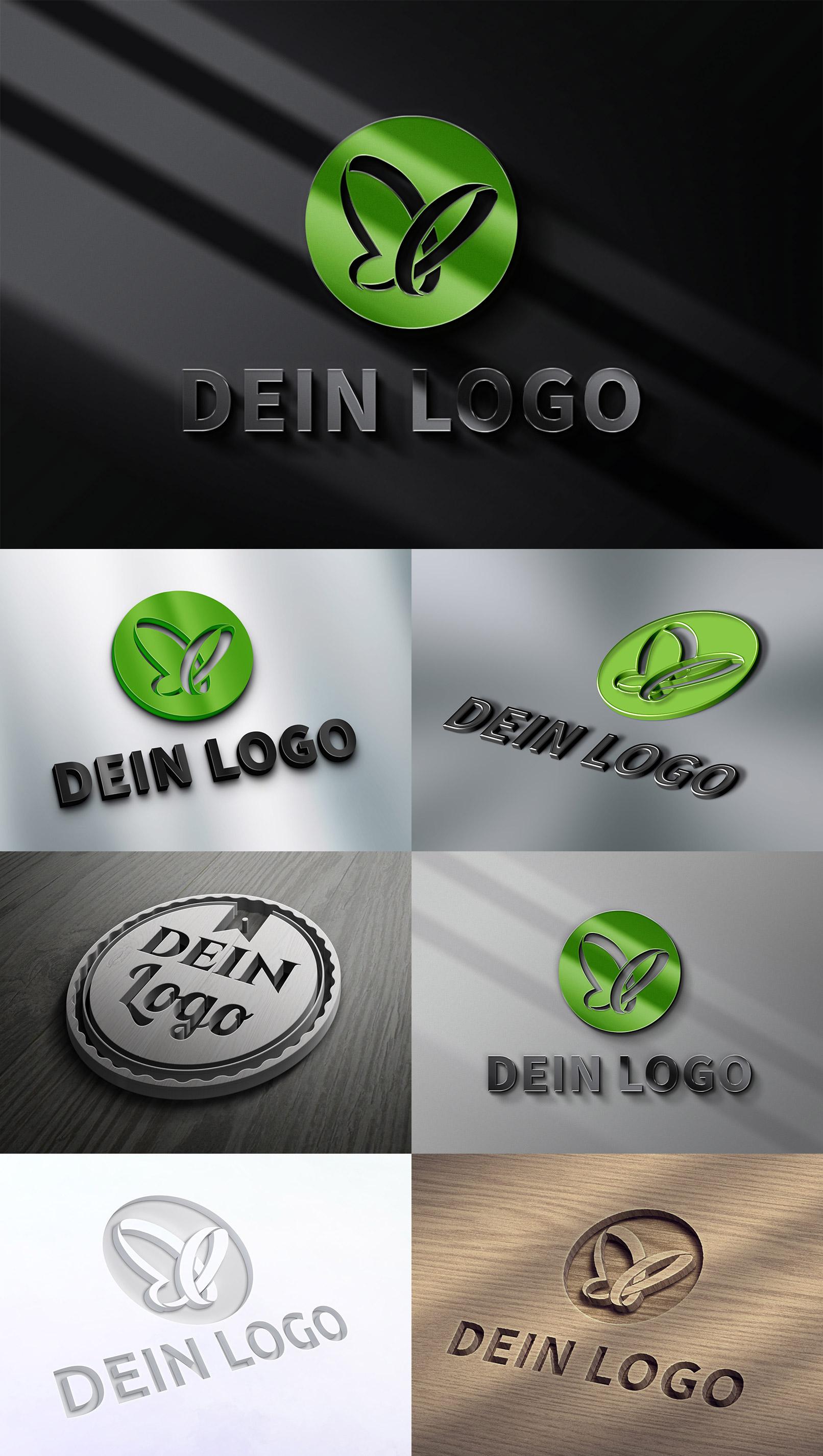 Logo-Mockups mit 3D-Effekten