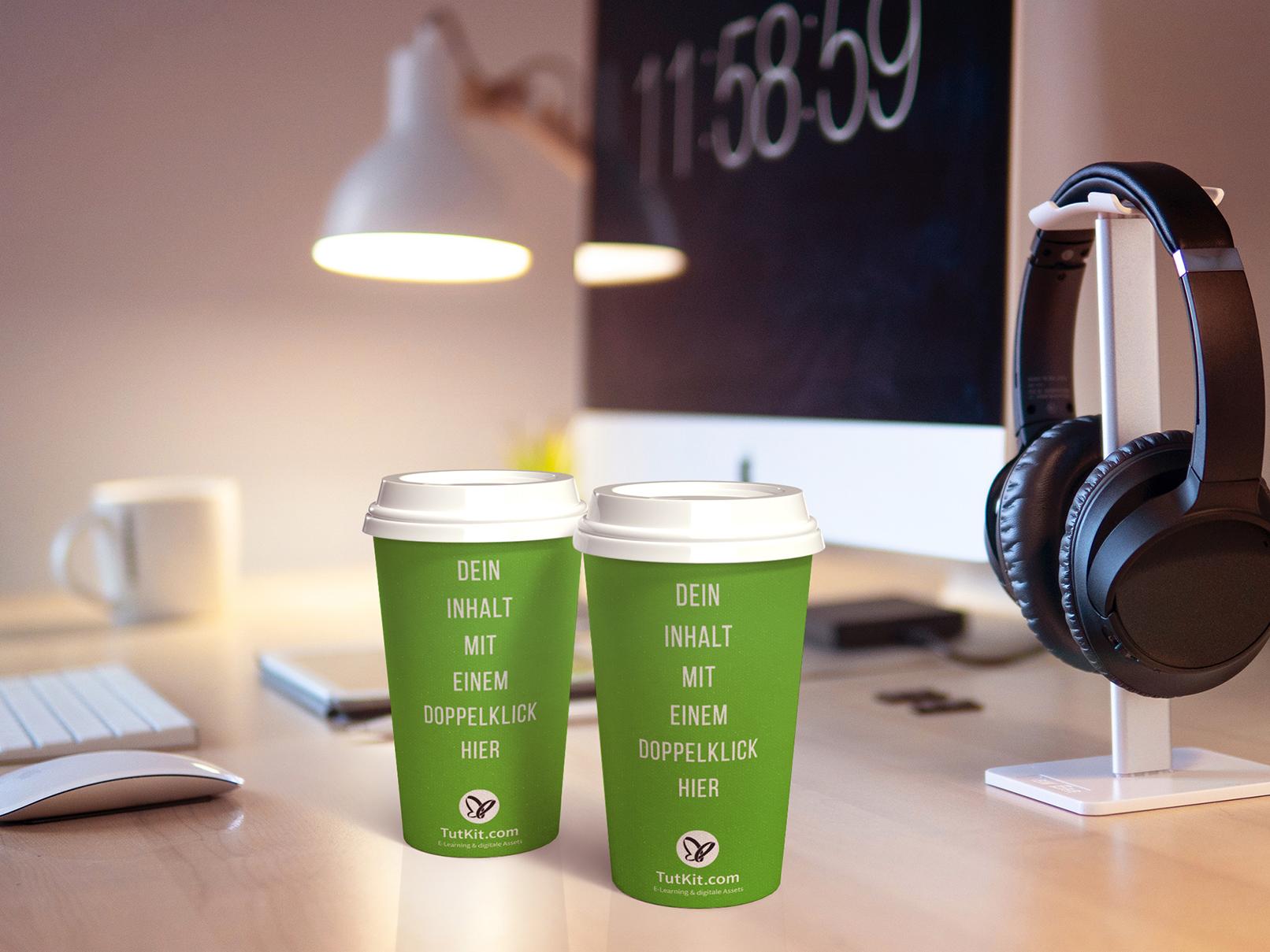 Mockups für Kaffeebecher