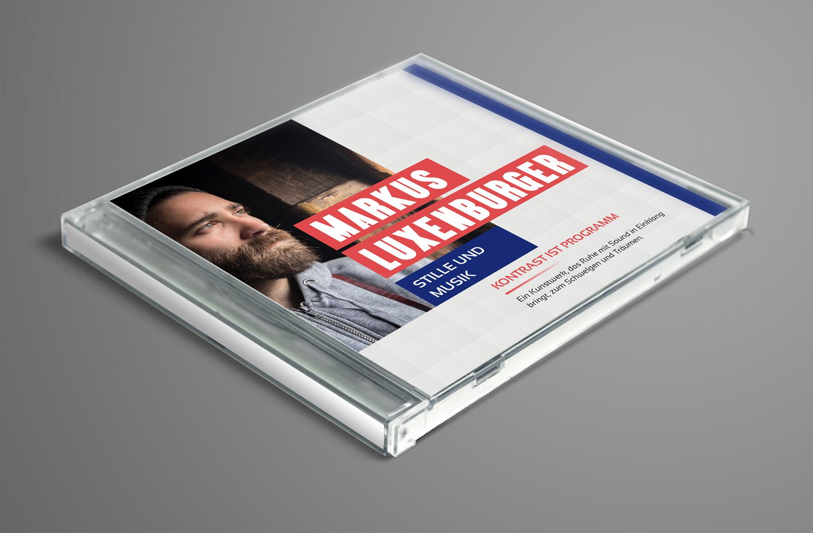 Design-Vorlage für ein CD Cover, ausgelegt für Alleinunterhalter, Musiker
