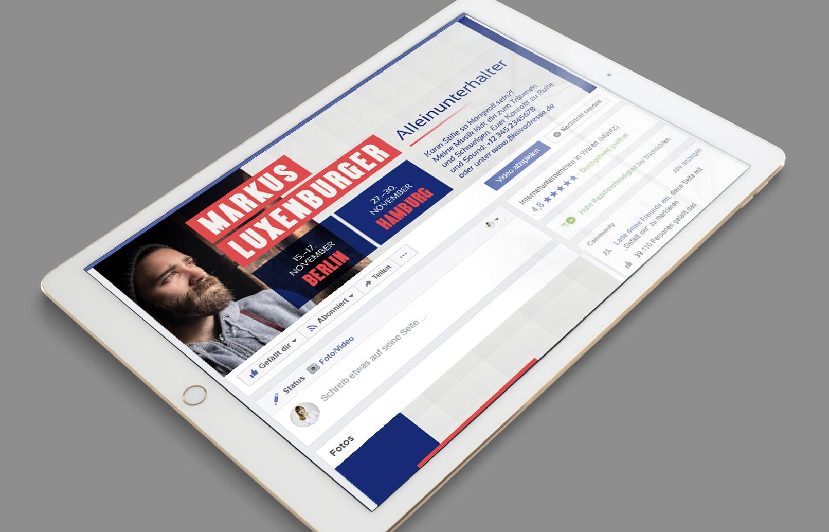 Facebook-Titelbild für Alleinunterhalter, Musiker
