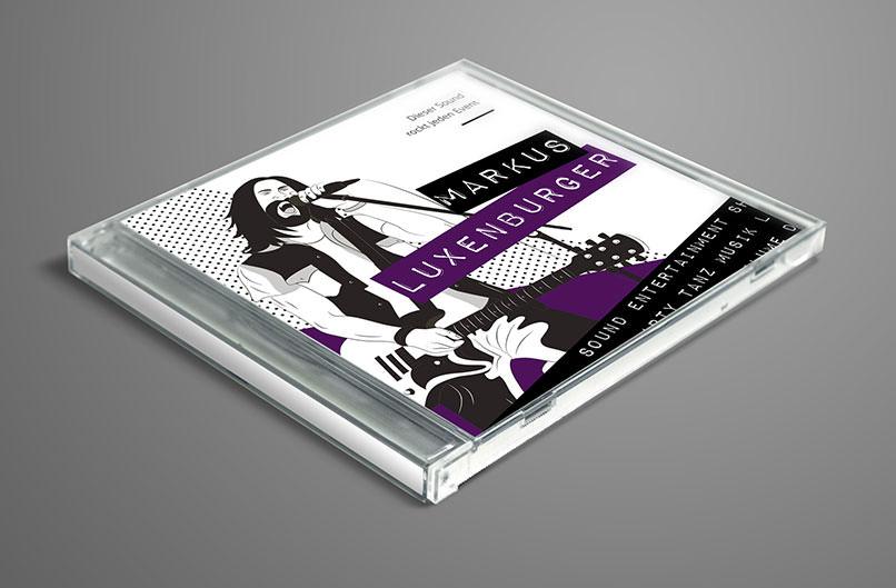 Design-Vorlage für ein CD Cover